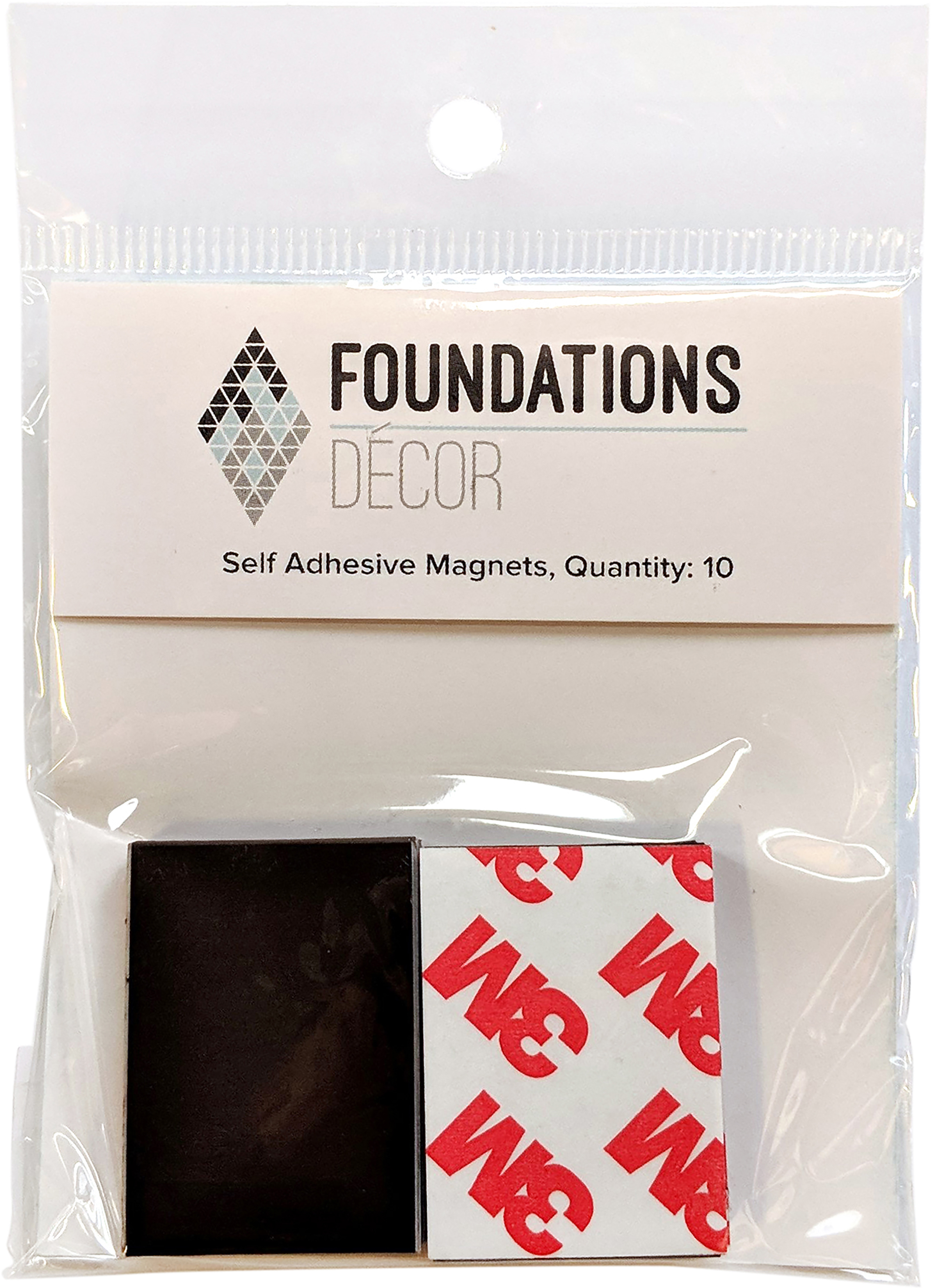 Foundations Decor Self-Adhesive Magnets 10/Pkg-