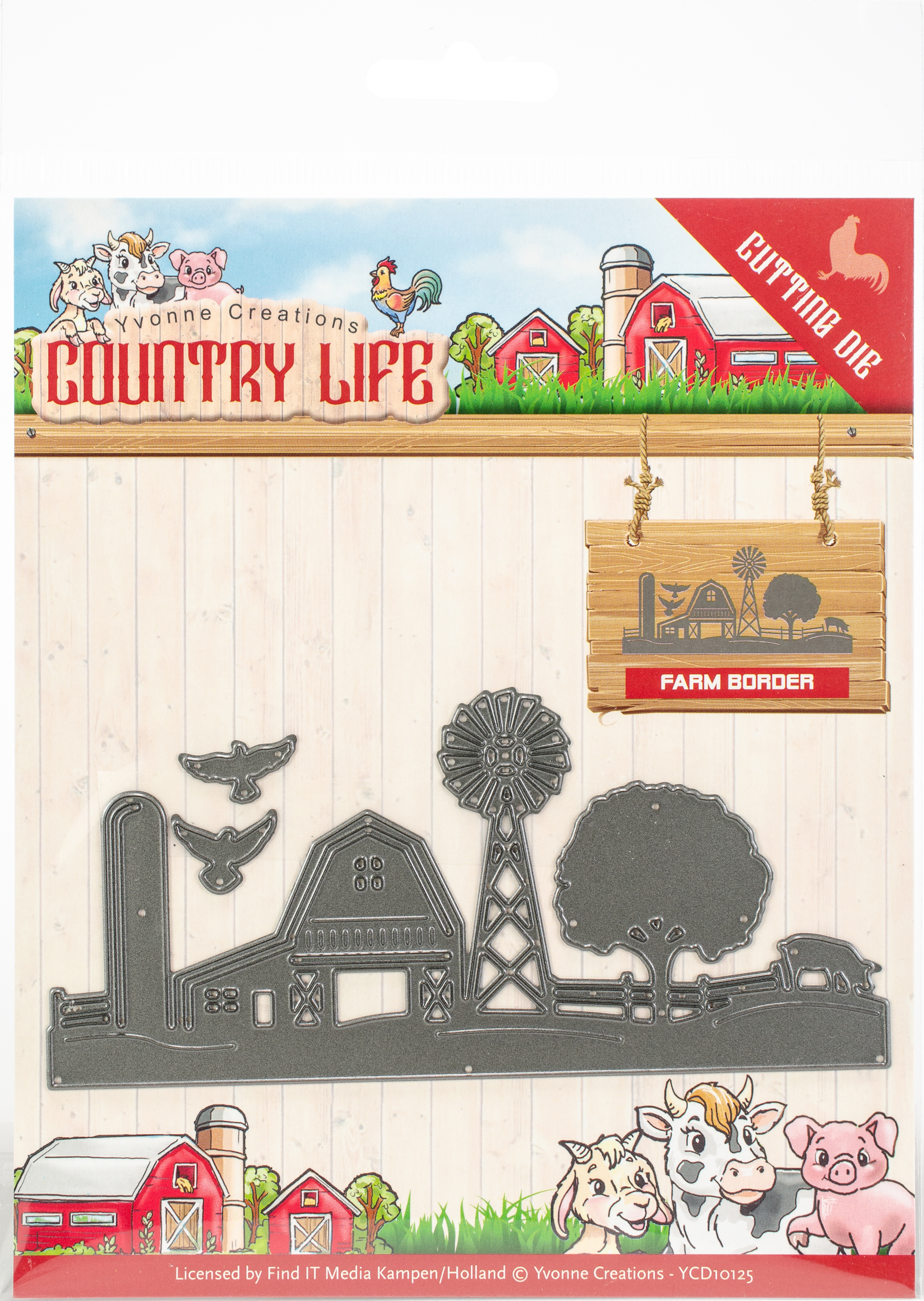Find It Trading Yvonne Creations Die-Farm Border, Country Life