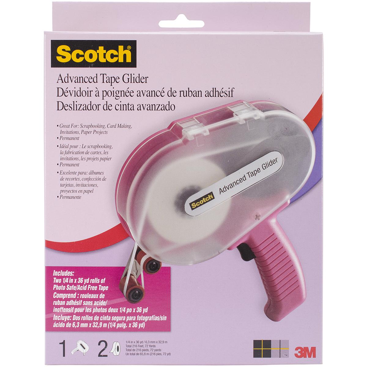 Scotch Advanced Tape Glider & Tape-Pink - .25X36yd Each