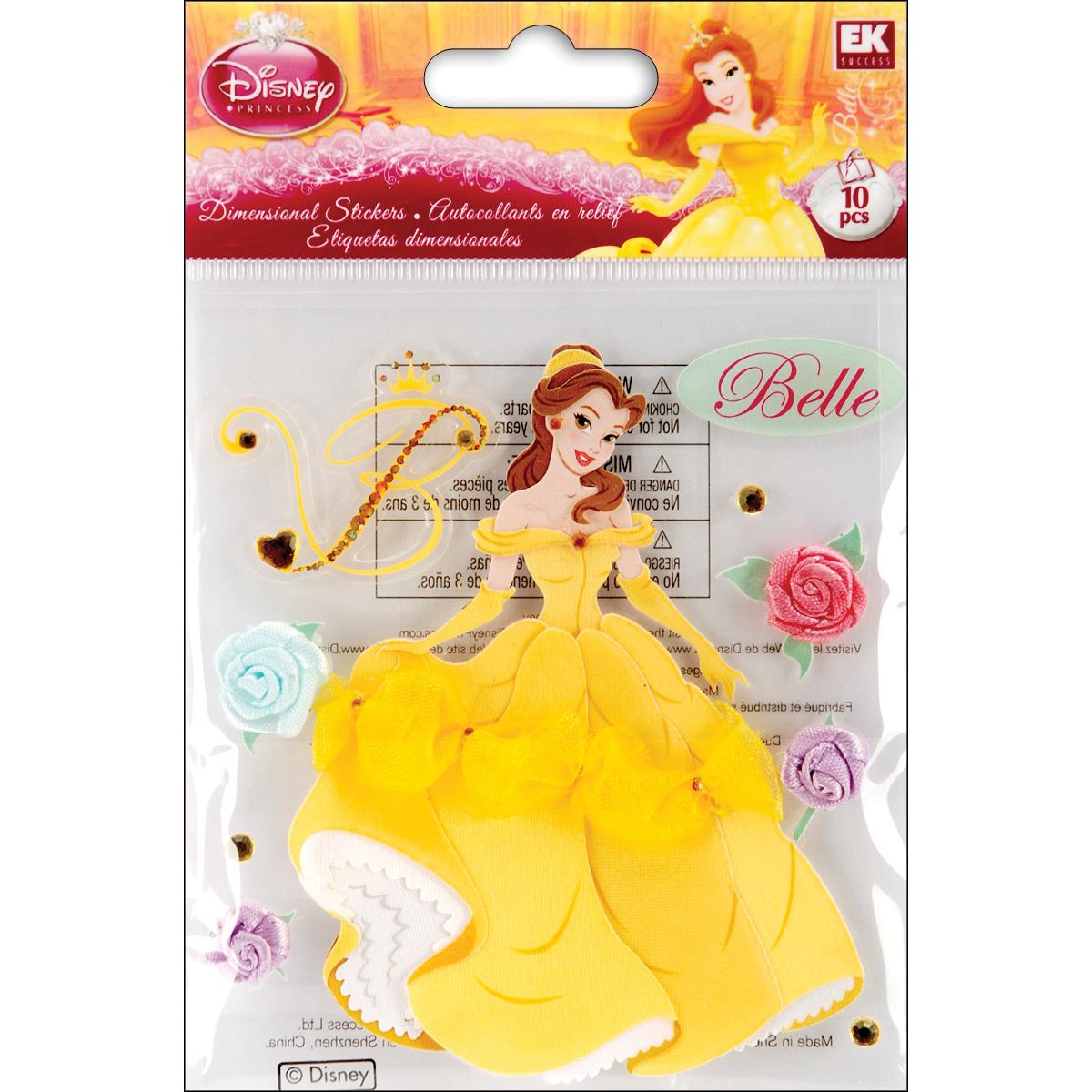 Disney Dimensional Stickers - Belle