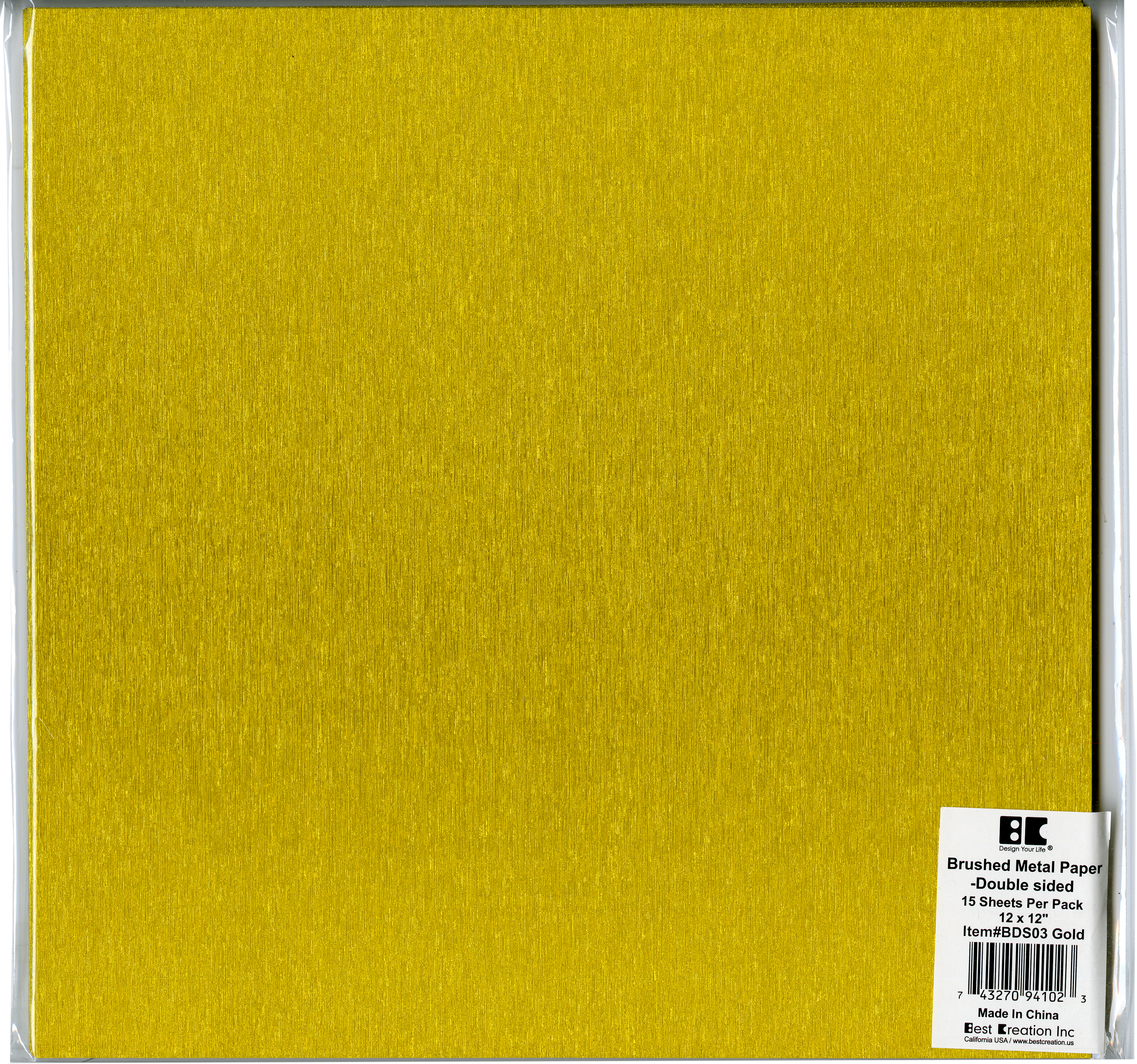 Brushed Metal Gold Paper