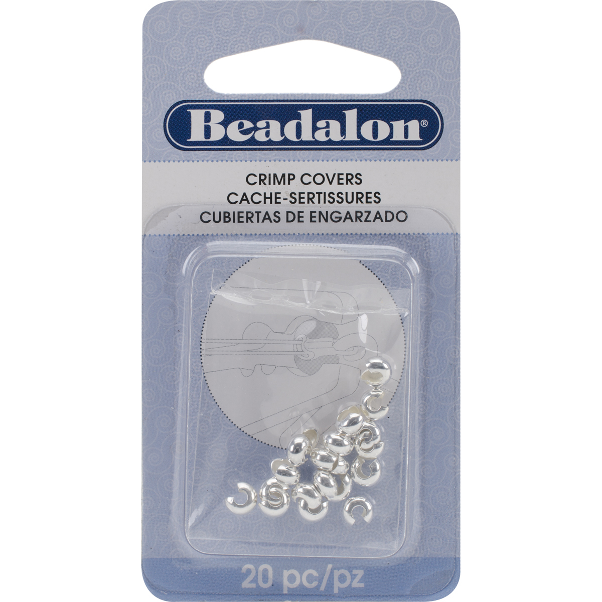 Beadalon Crimp Covers Silver 5mm