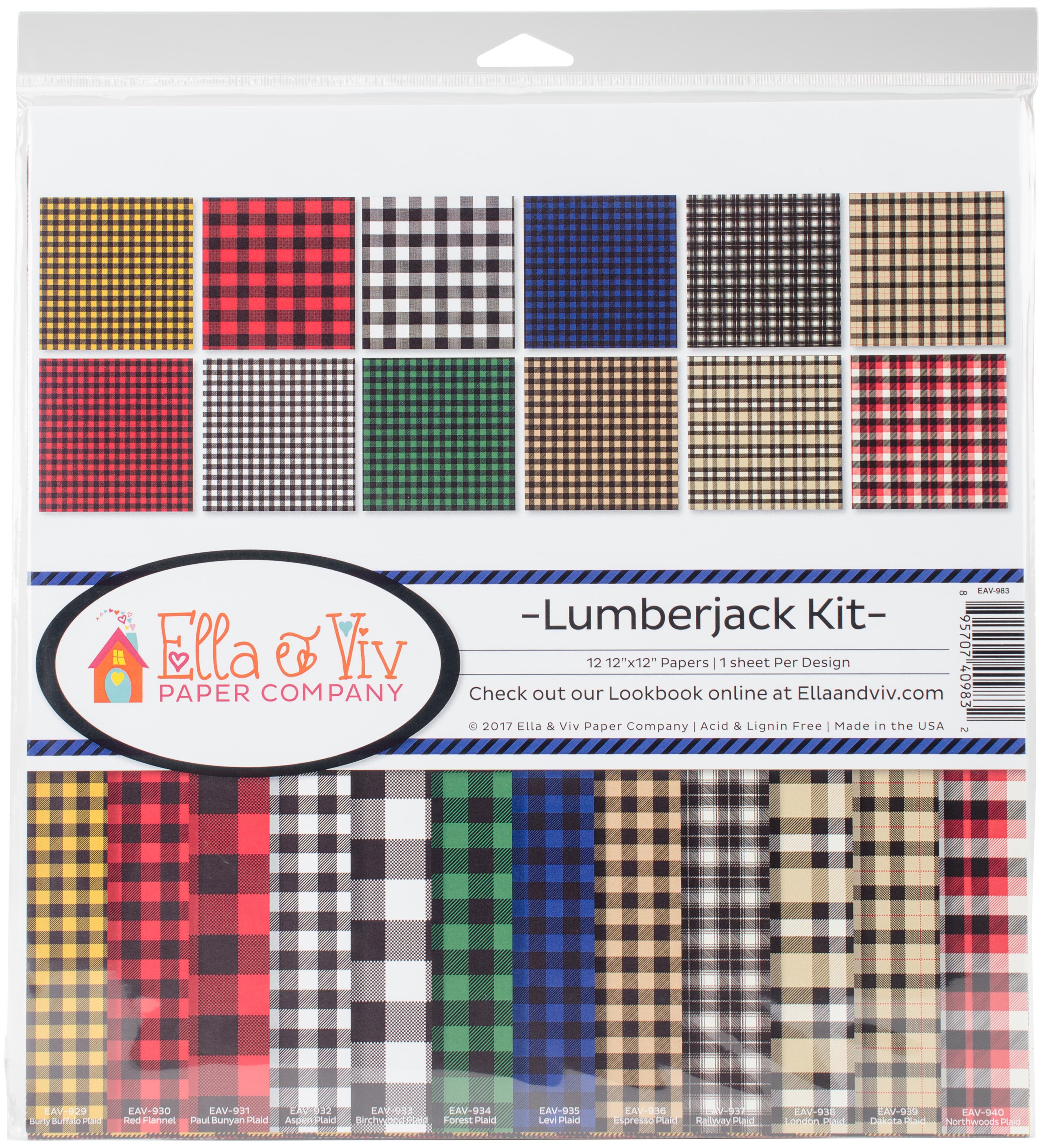 Ella & Viv Collection Kit 12X12-Lumberjack
