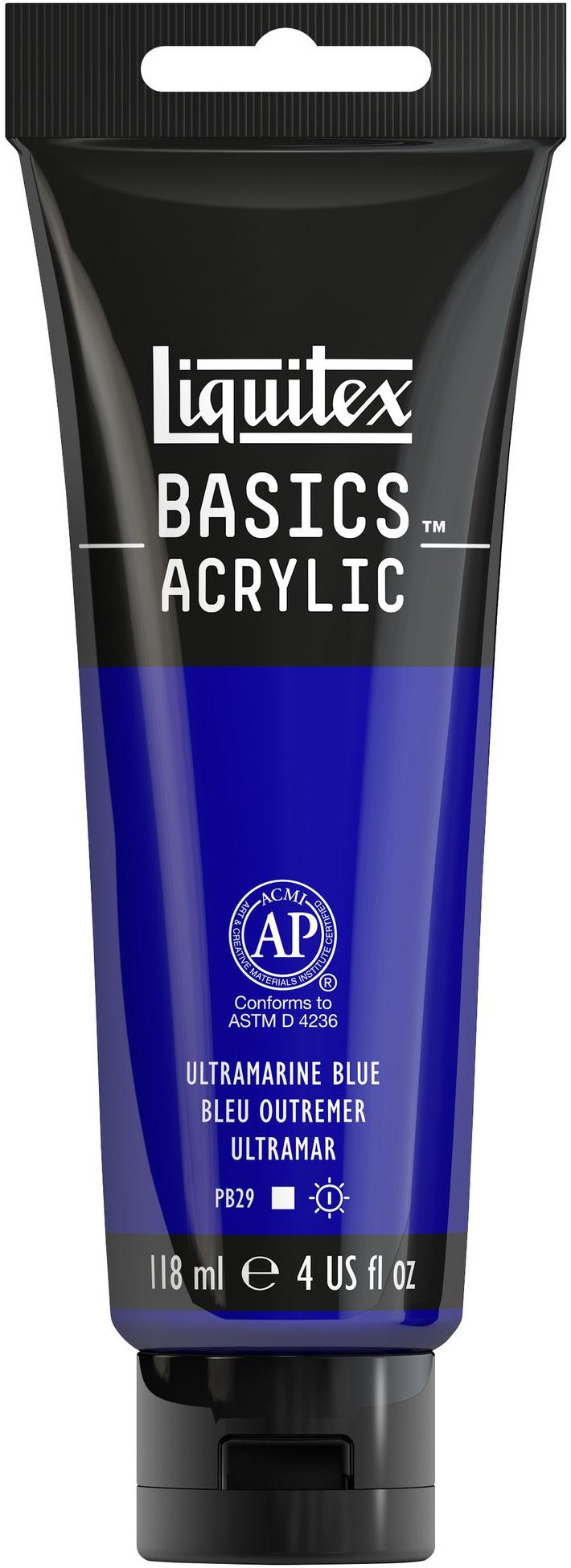 Liquitex BASICS Acrylic Paint 4oz-Ultramarine Blue