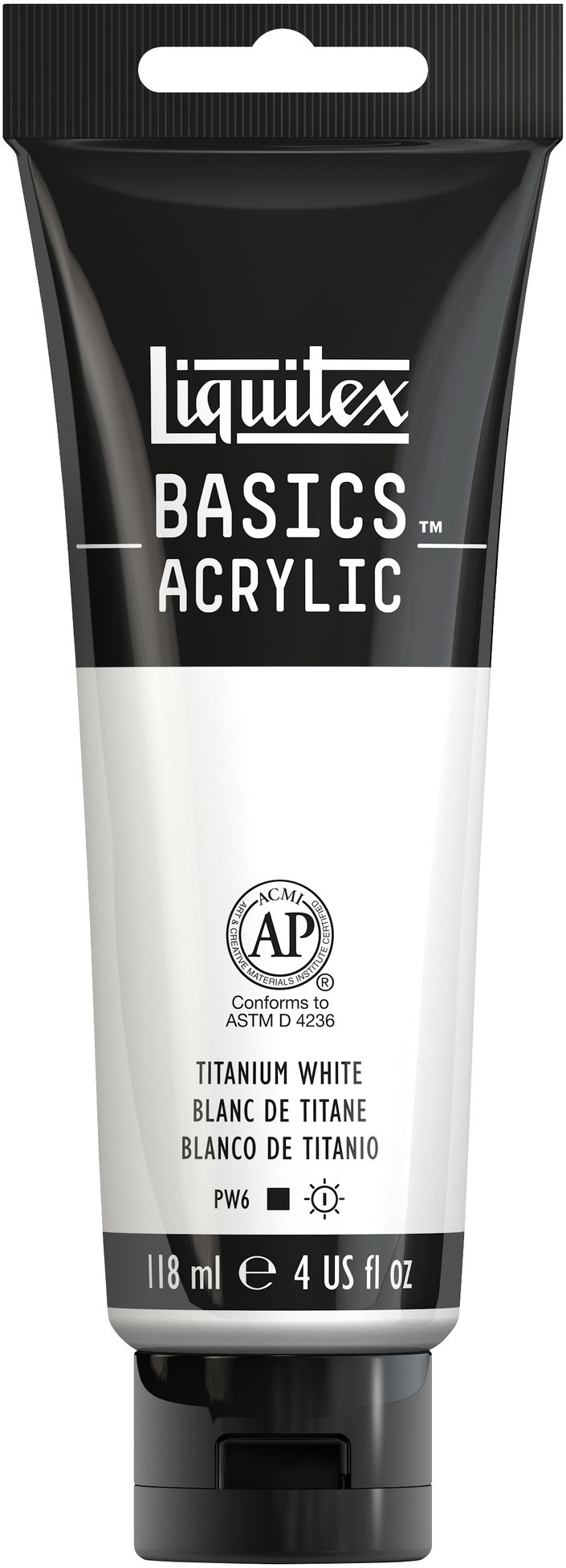 Liquitex BASICS Acrylic Paint 4oz-Titanium White