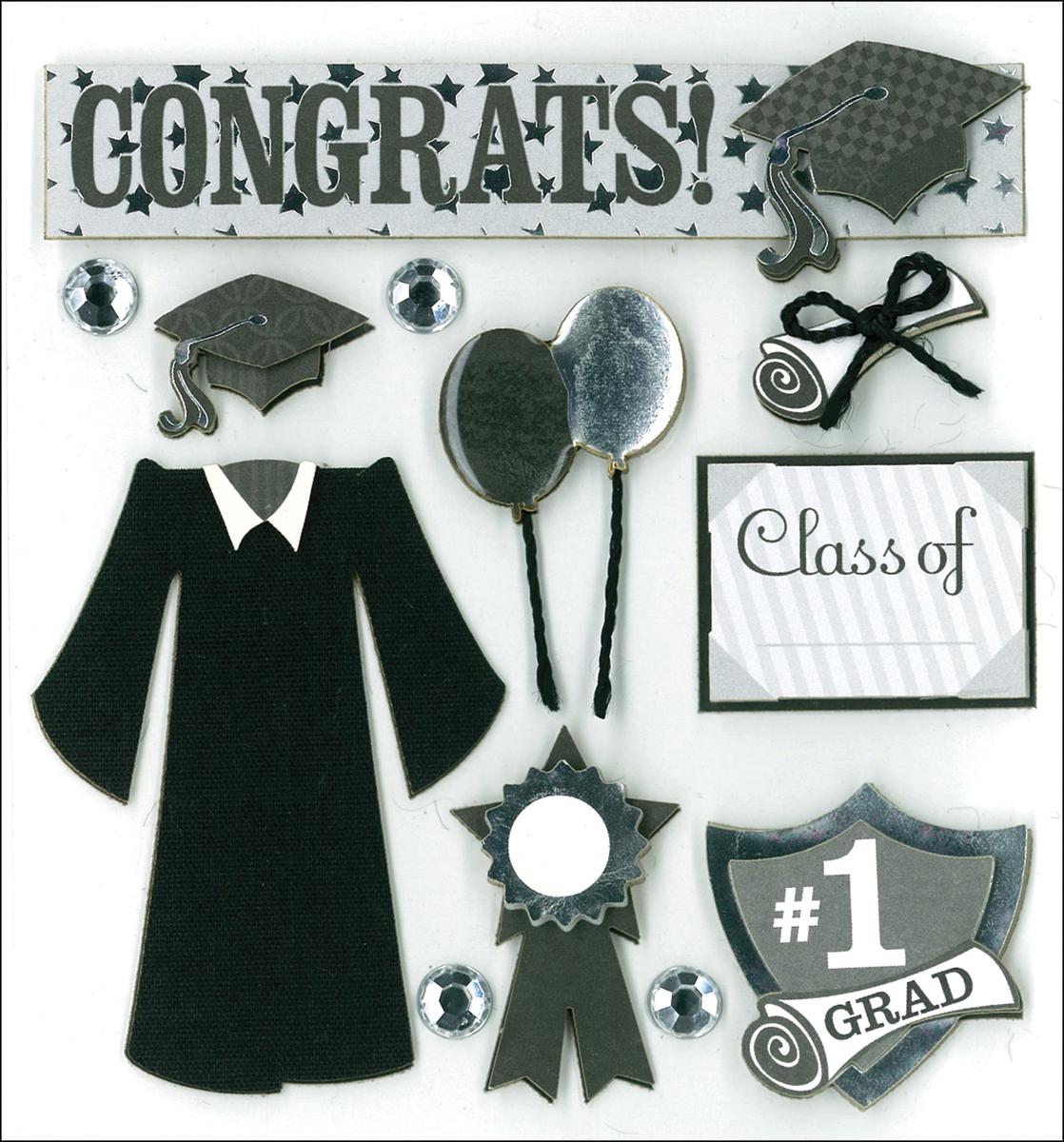 K&Company Dimensional Stickers-Graduation Day