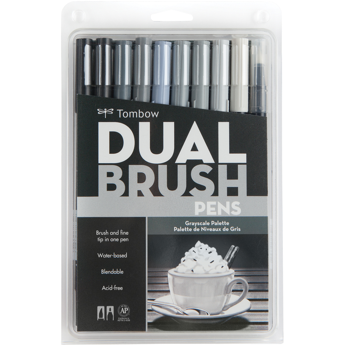 Tombow Dual Brush Grayscale