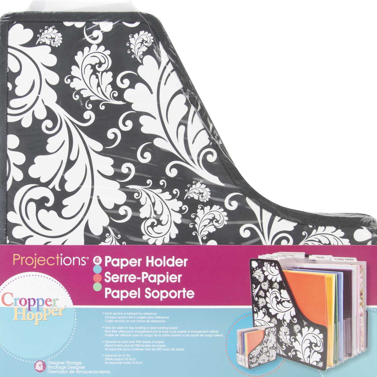 Storage Studios Projections Expandable Paper Holder-13.5X14.25X1, Expands To ...