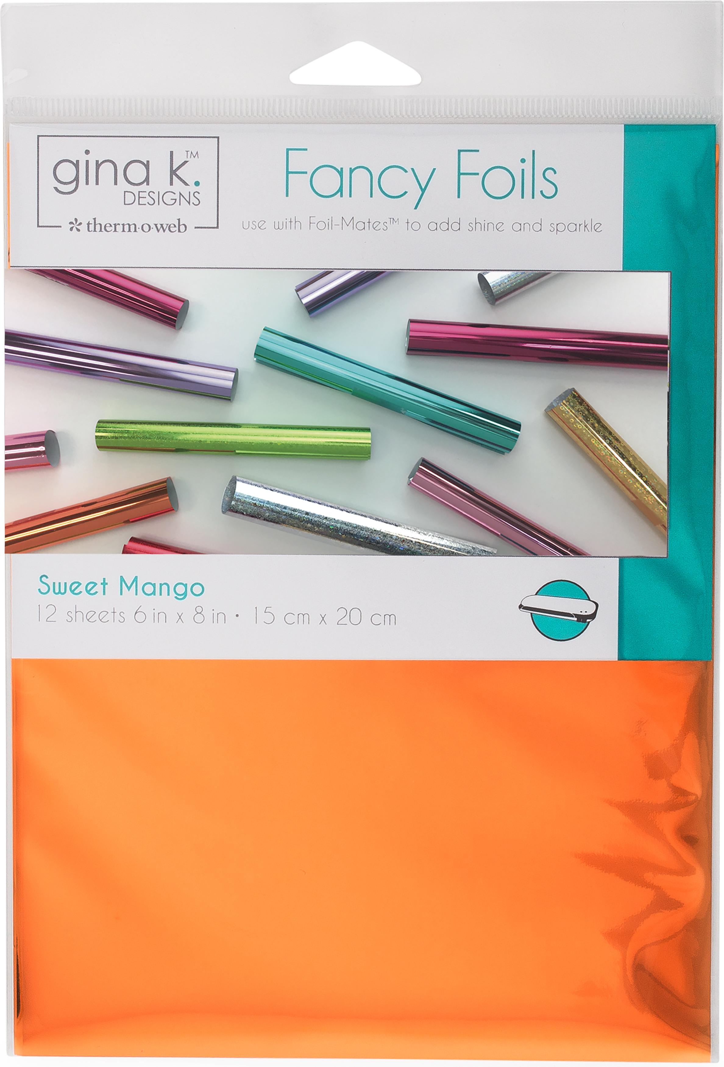 Gina K Designs Fancy Foil 6X8 12/Pkg-Sweet Mango