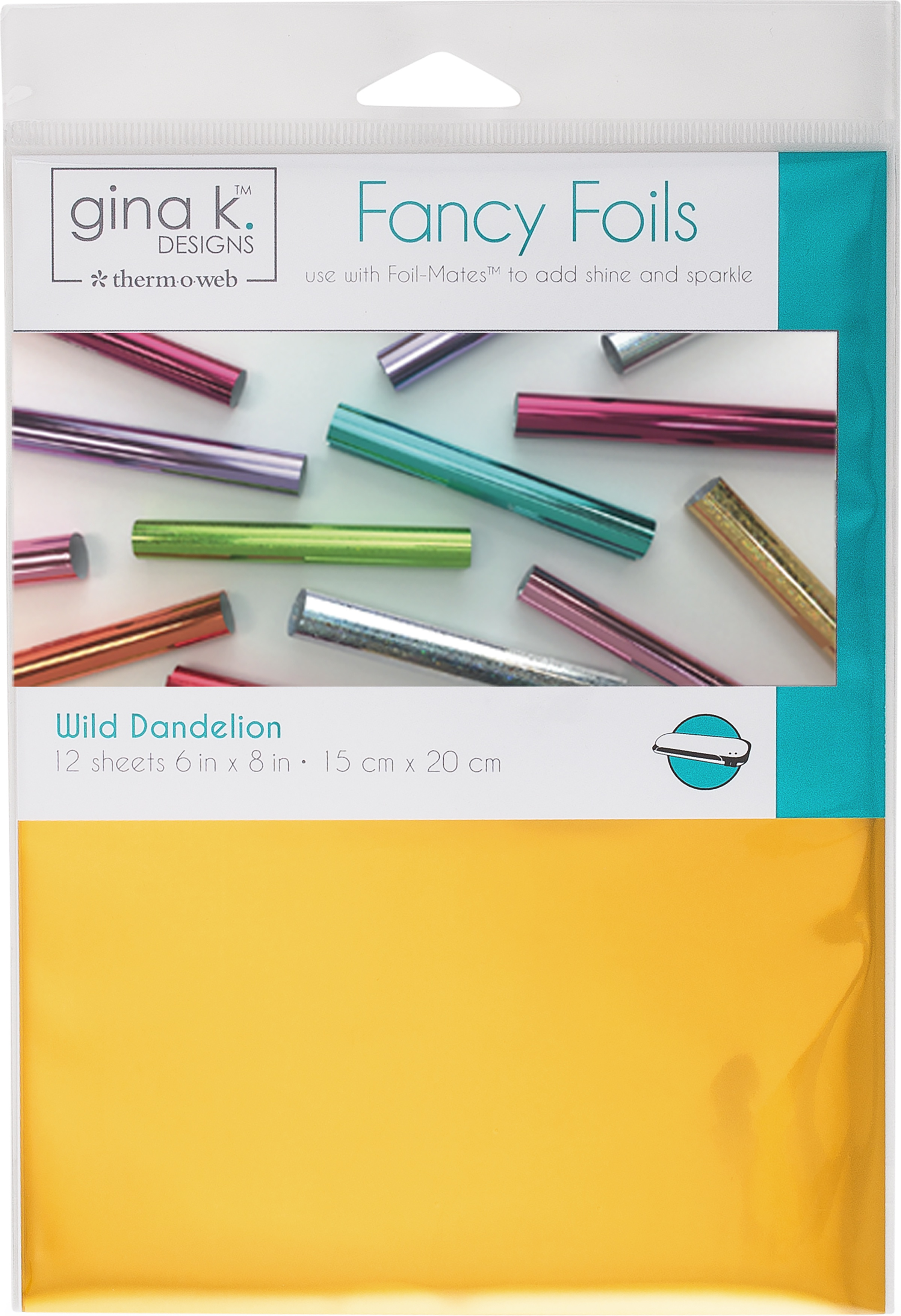Gina K Designs Fancy Foil 6X8 12/Pkg-Wild Dandelion