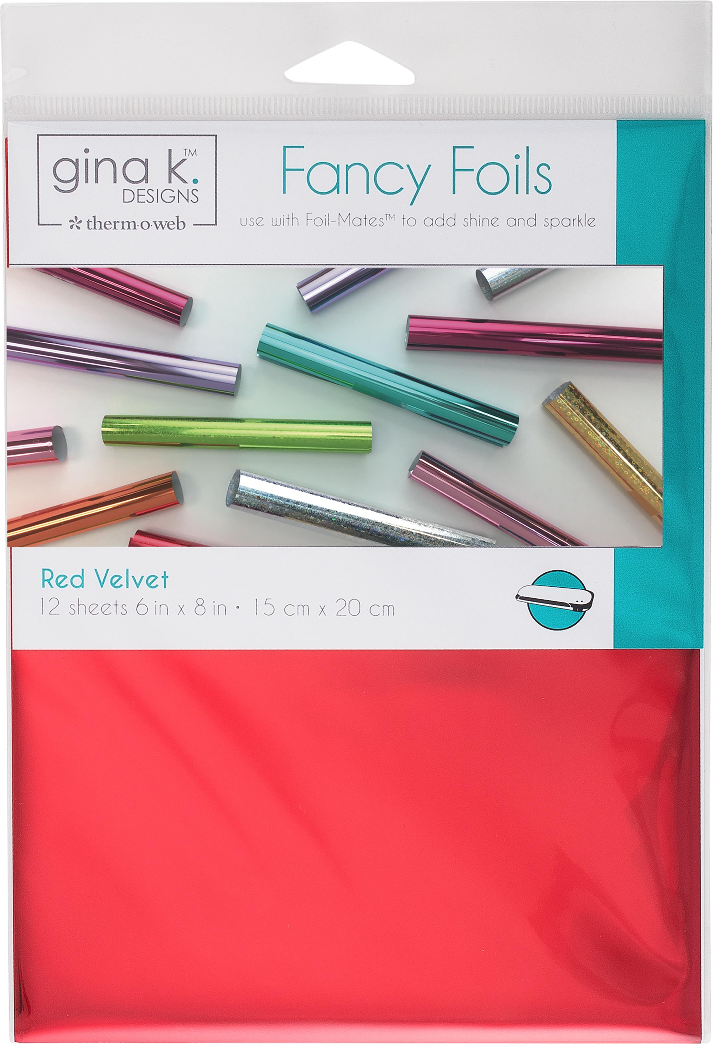 Gina K Designs Fancy Foil 6X8 12/Pkg-Red Velvet