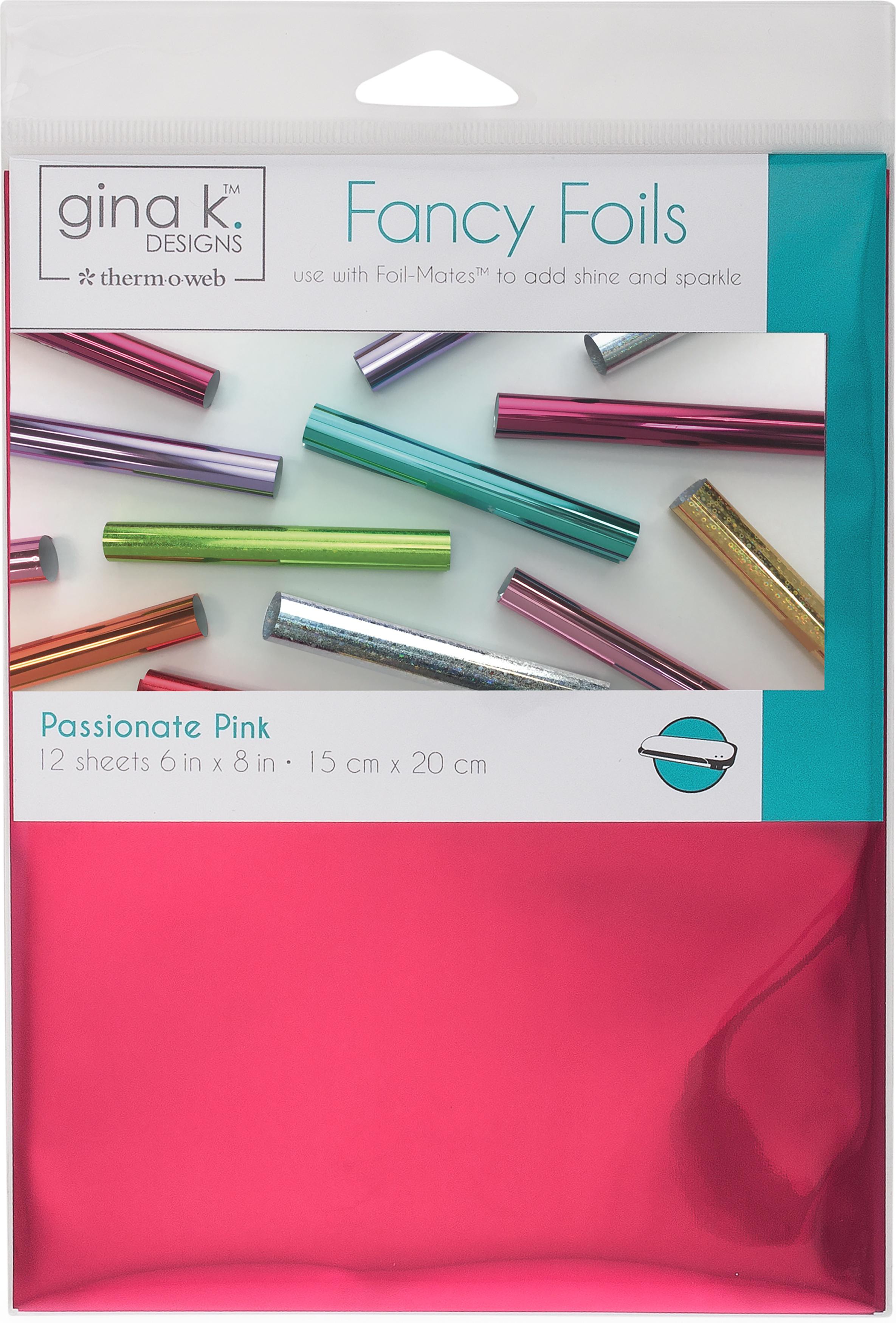 Gina K Designs Fancy Foil 6X8 12/Pkg-Passionate Pink