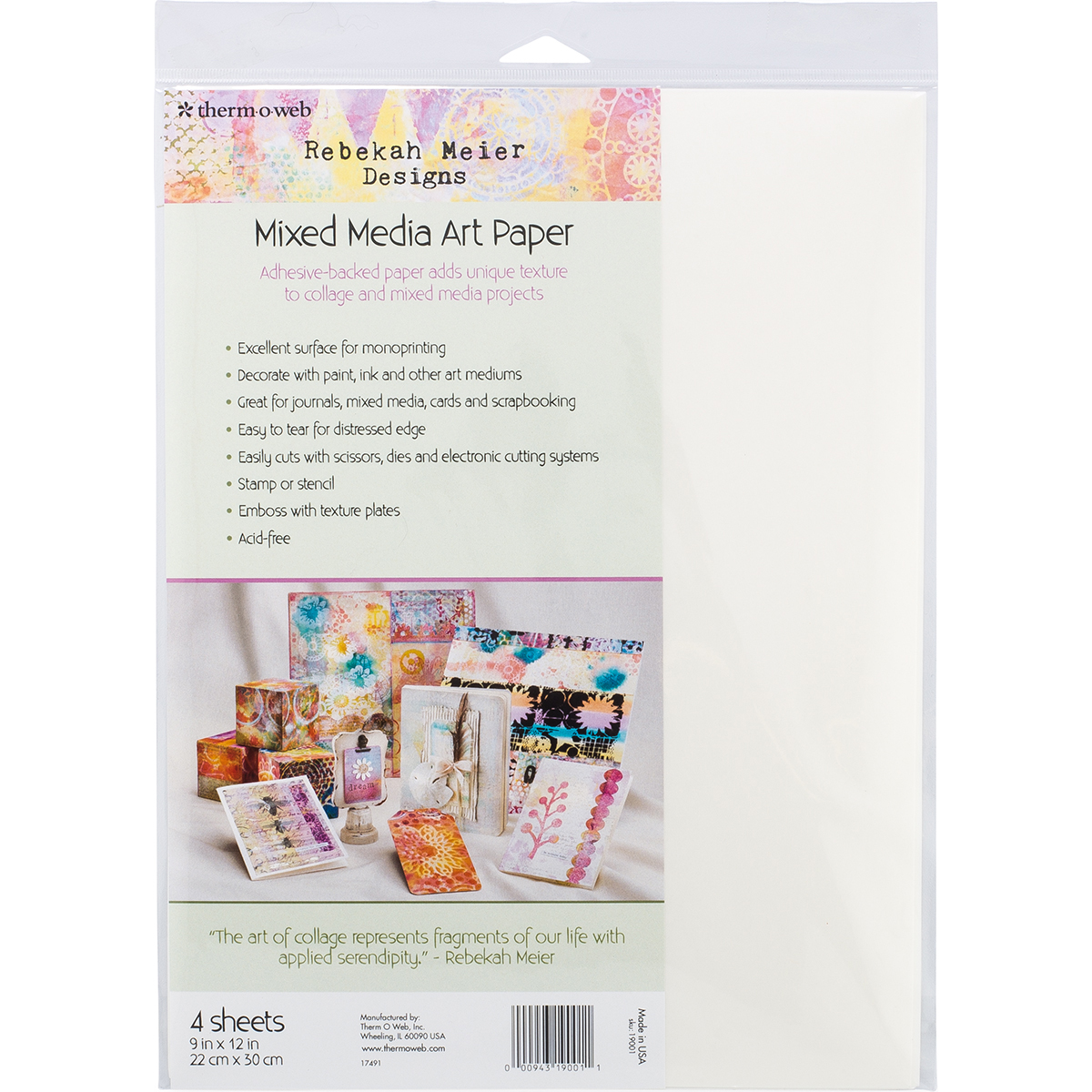 Rebekah Meier Designs Mixed Media Art Sheets 9X12 2/Pkg-