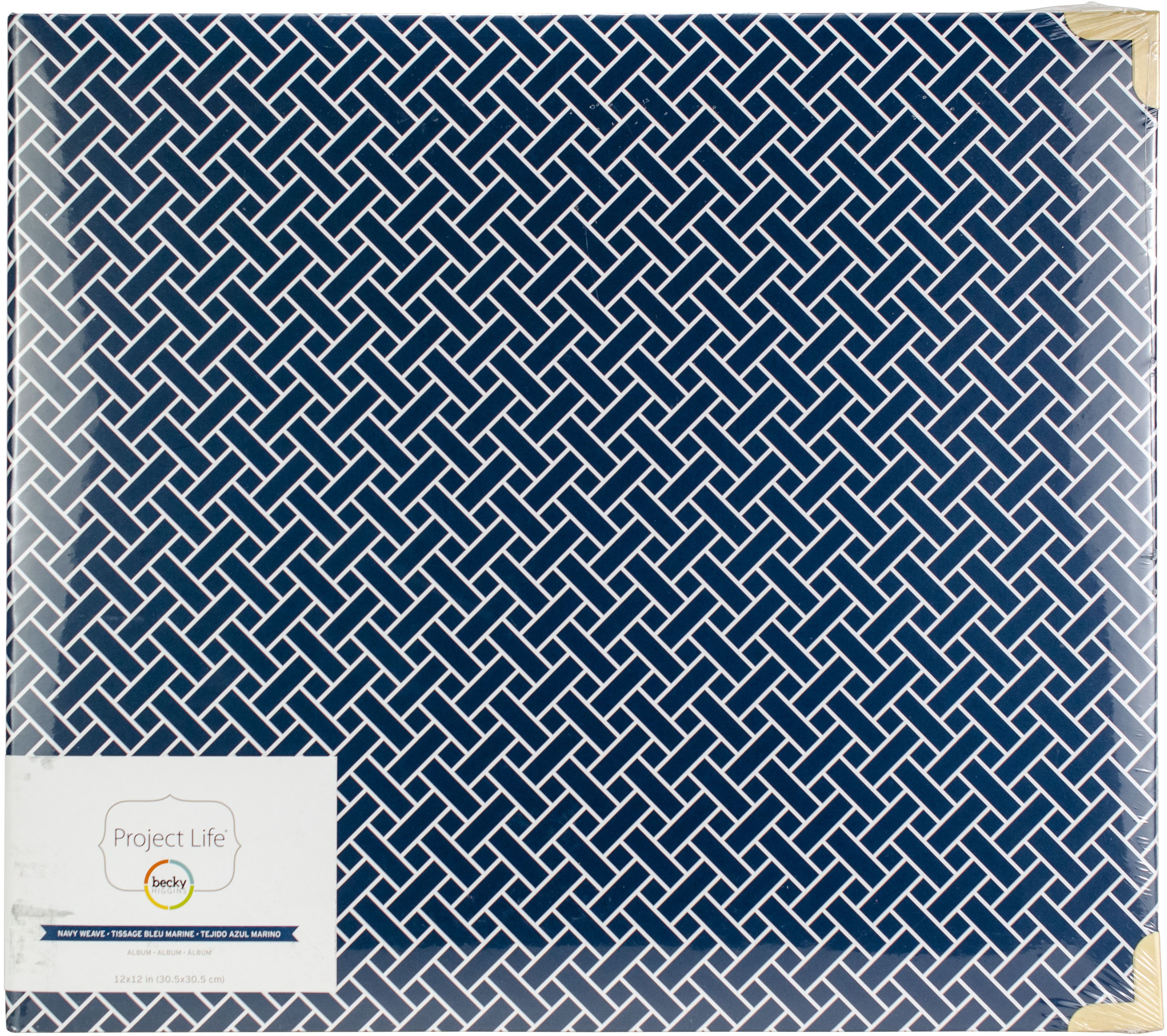 Project Life D-Ring Album 12X12-Navy Weave