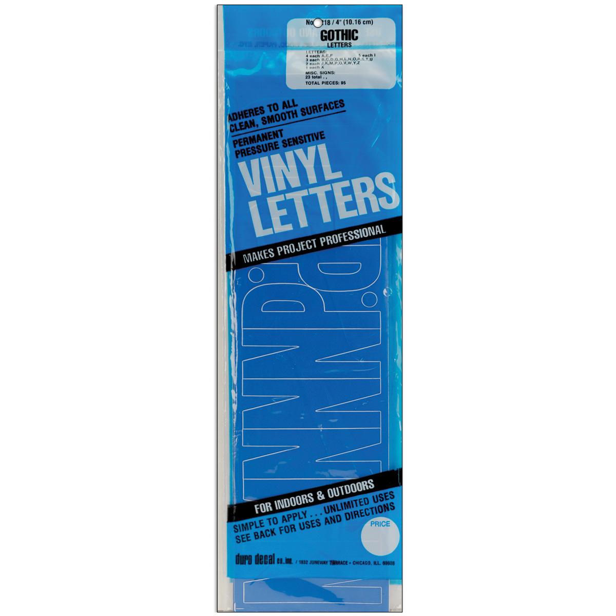 Permanent Adhesive Vinyl Letters 4 95/Pkg-Black