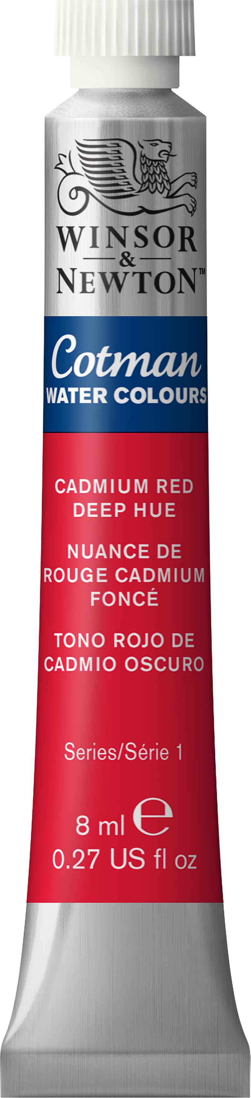 Winsor & Newton Cotman Water Colours 8ml-Cadmium Red Deep Hue