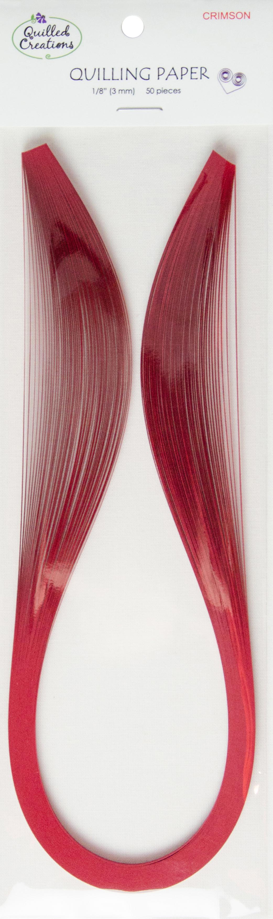 Quilling Paper 1/8 50/Pkg Crimson