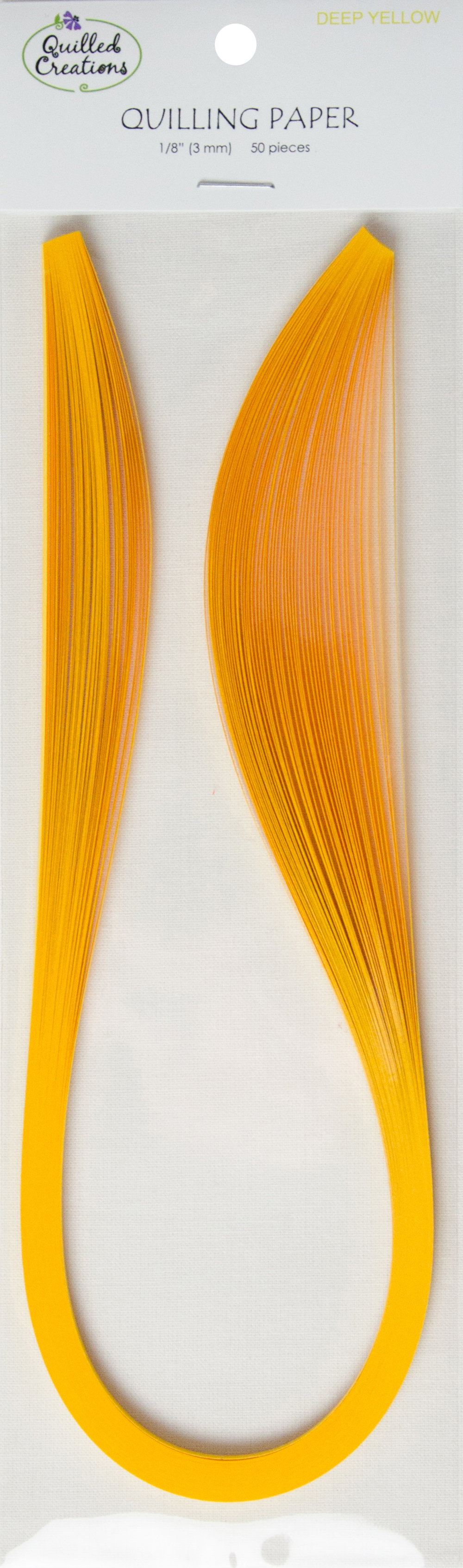 Quilling Paper 1/8 50pcs Deep Yellow