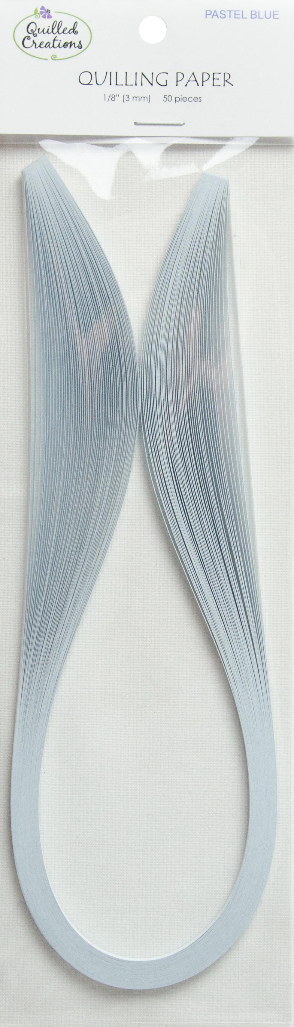Quilling Paper 1/8 50/Pkg Pastel Blue