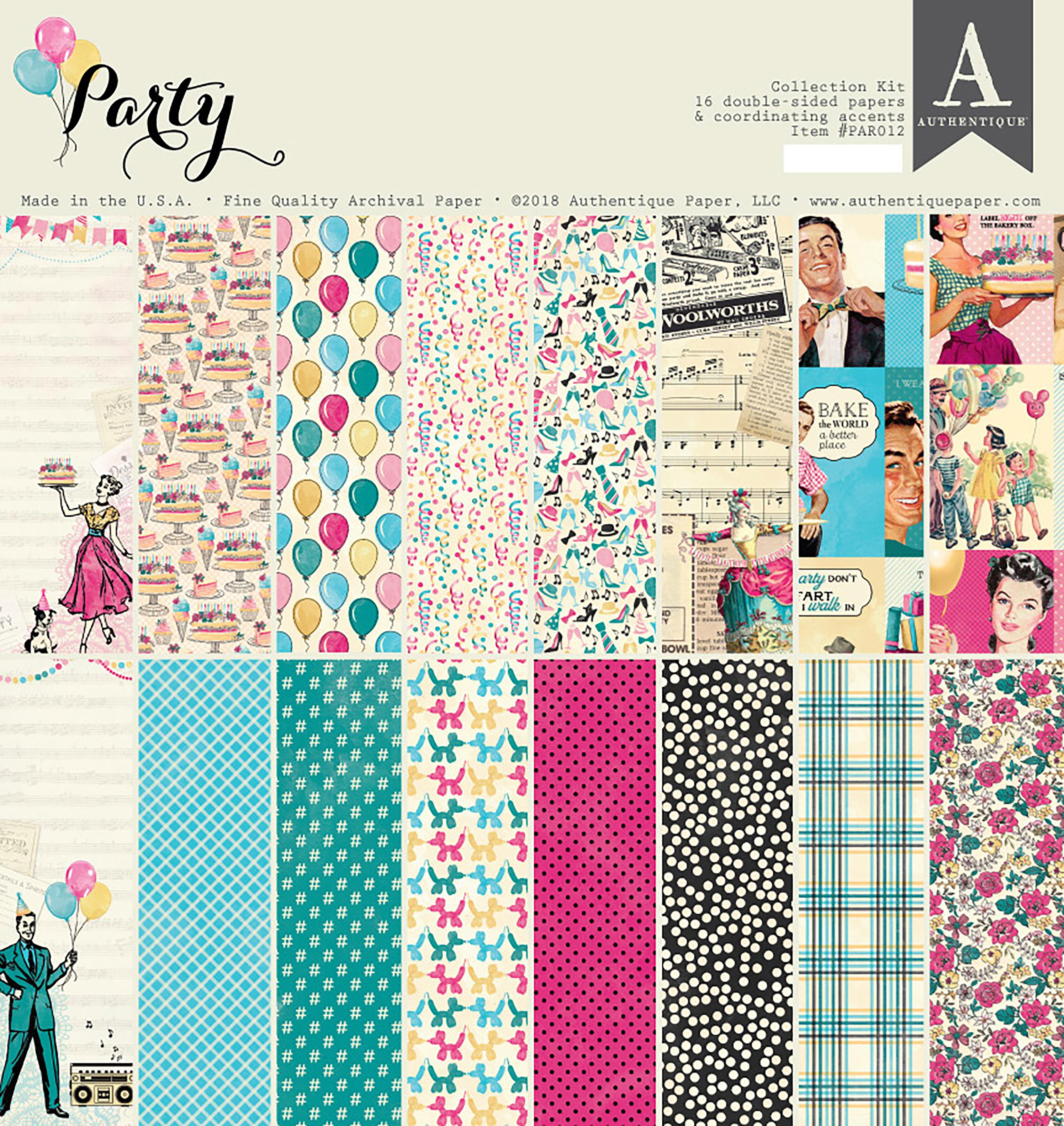 Authentique Collection Kit 12X12-Party
