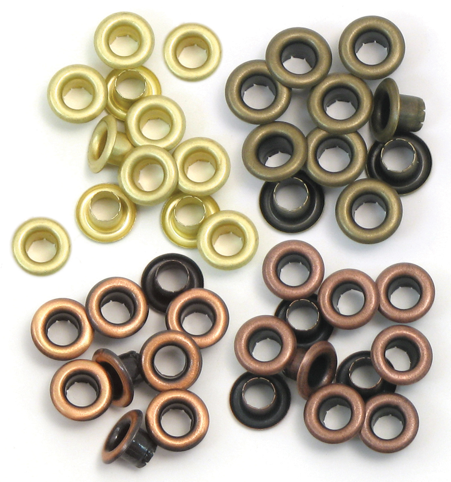We R Eyelets Standard 60/Pkg-Warm Metal