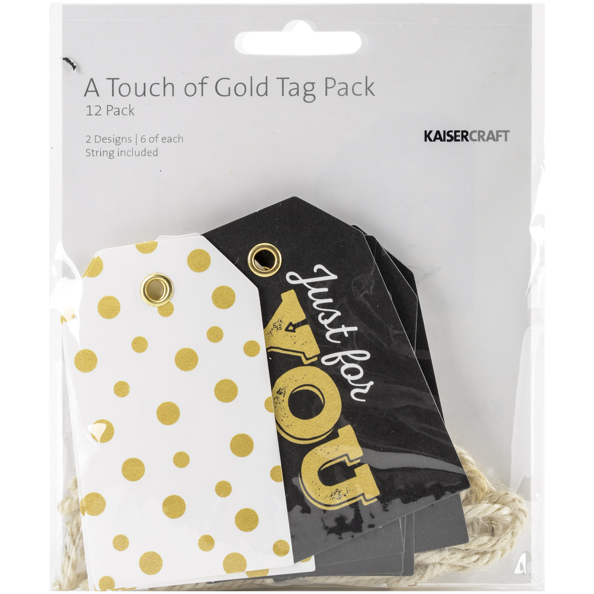 12/PKG    -TOUCH OF GOLD TAG PK