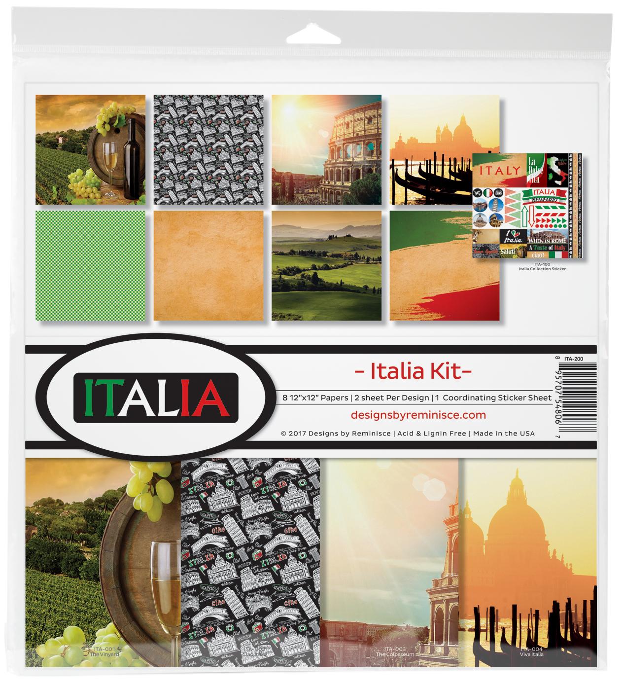 Reminisce Collection Kit 12X12-Italia