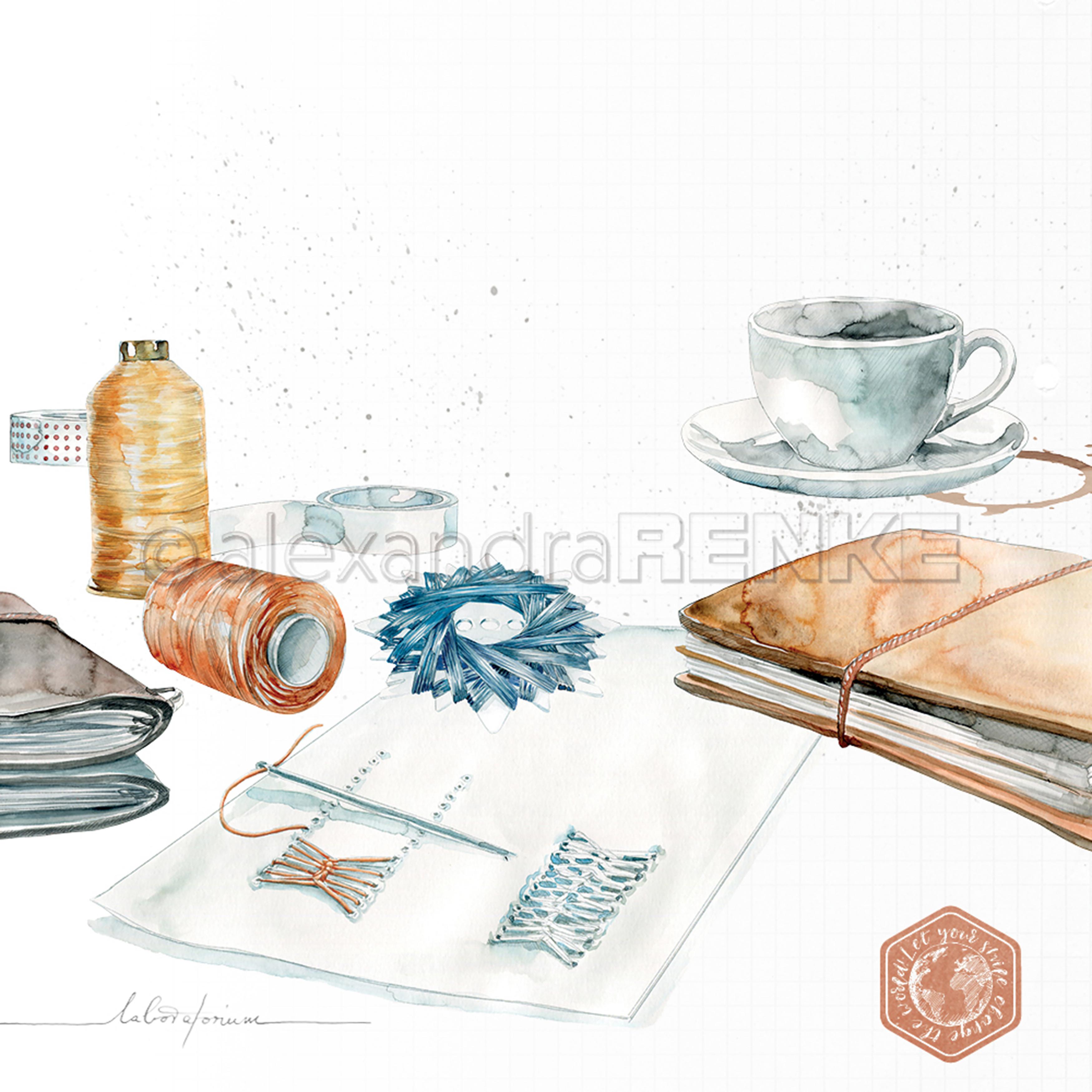 Alexandra Renke Midori Basic Design Paper 12X12-Crafts