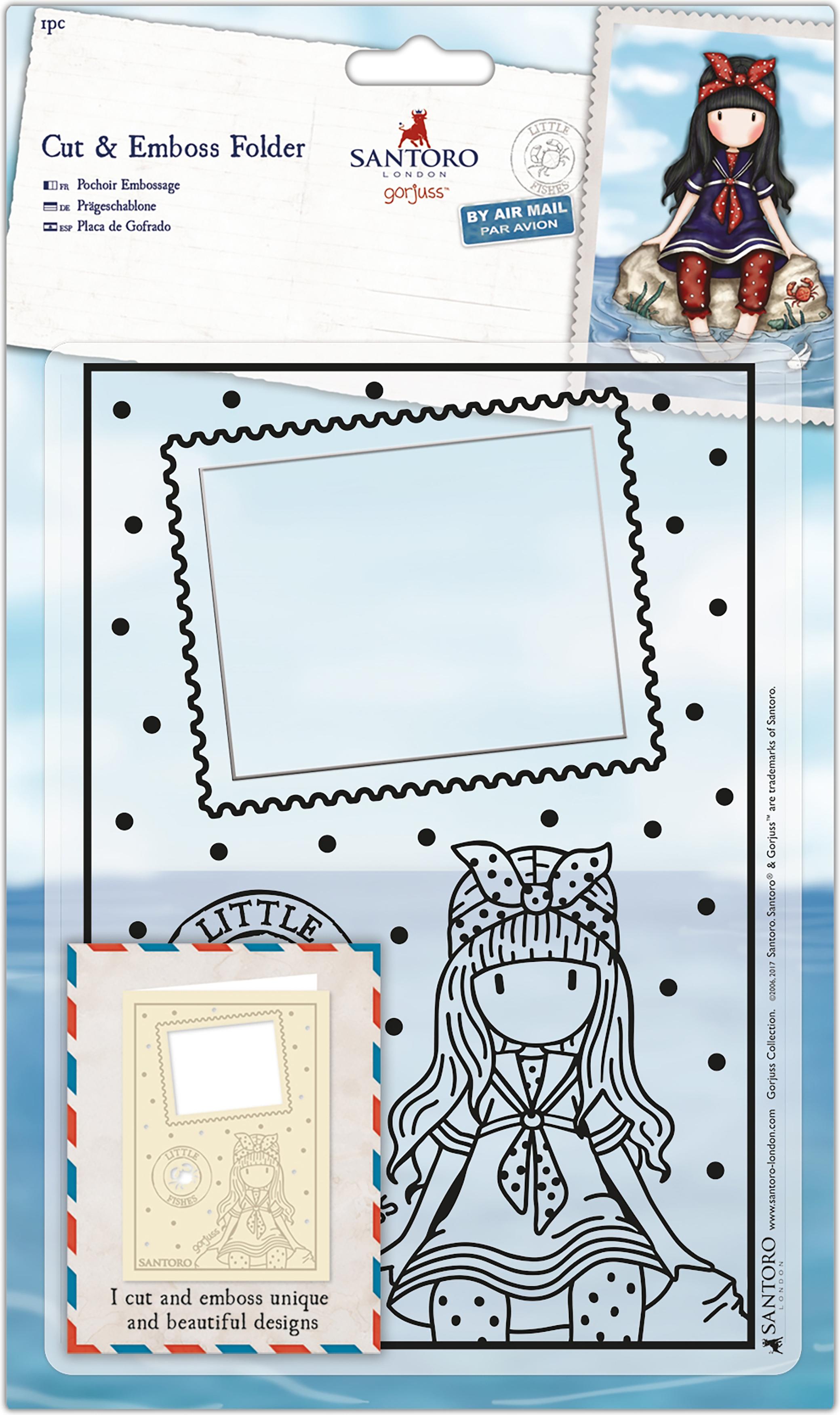 Santoro's Gorjuss Cut & Emboss Folder-Little Fishes
