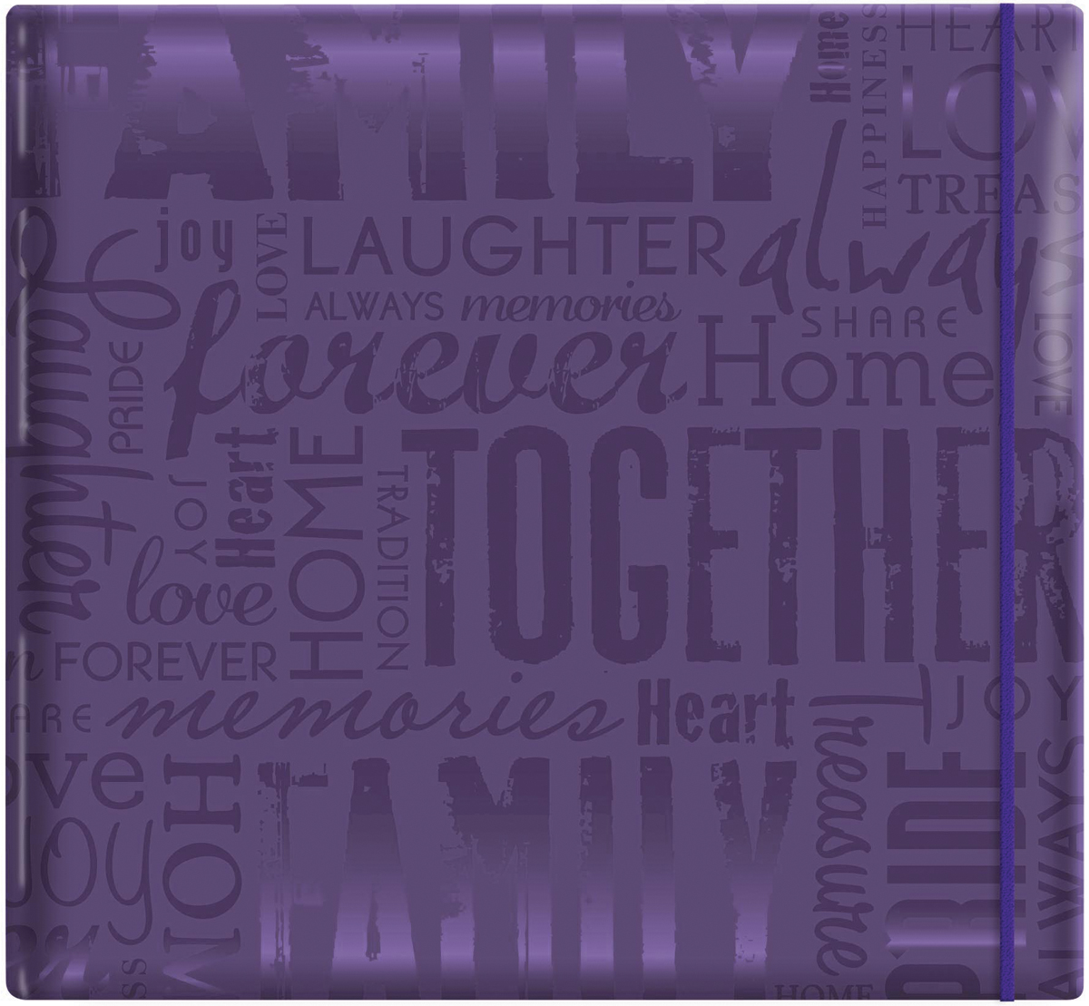 Post Bound Album Family Purple