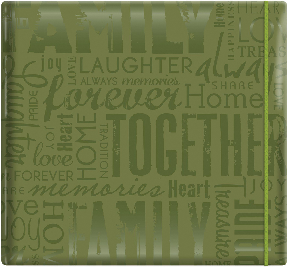 MBI Gloss Post Bound Album 12X12 Family Green