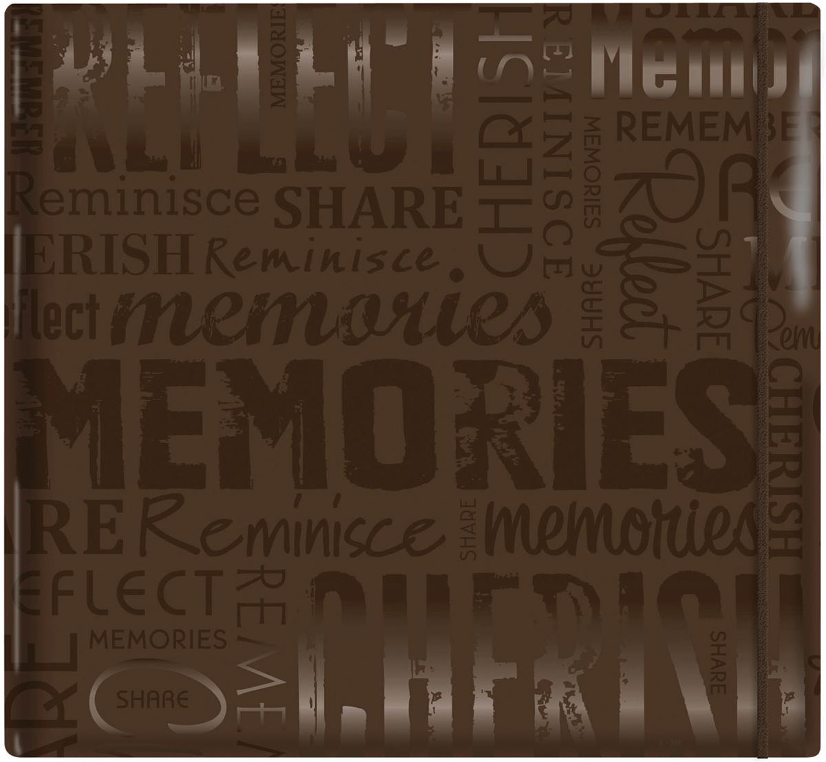 Gloss Post Bound Album Memories Brown