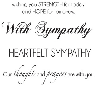 Mini Clear Stamps 2.25X3-Sympathy Words