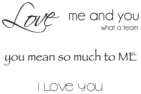 Mini Clear Stamps 2.25X3-Love Words