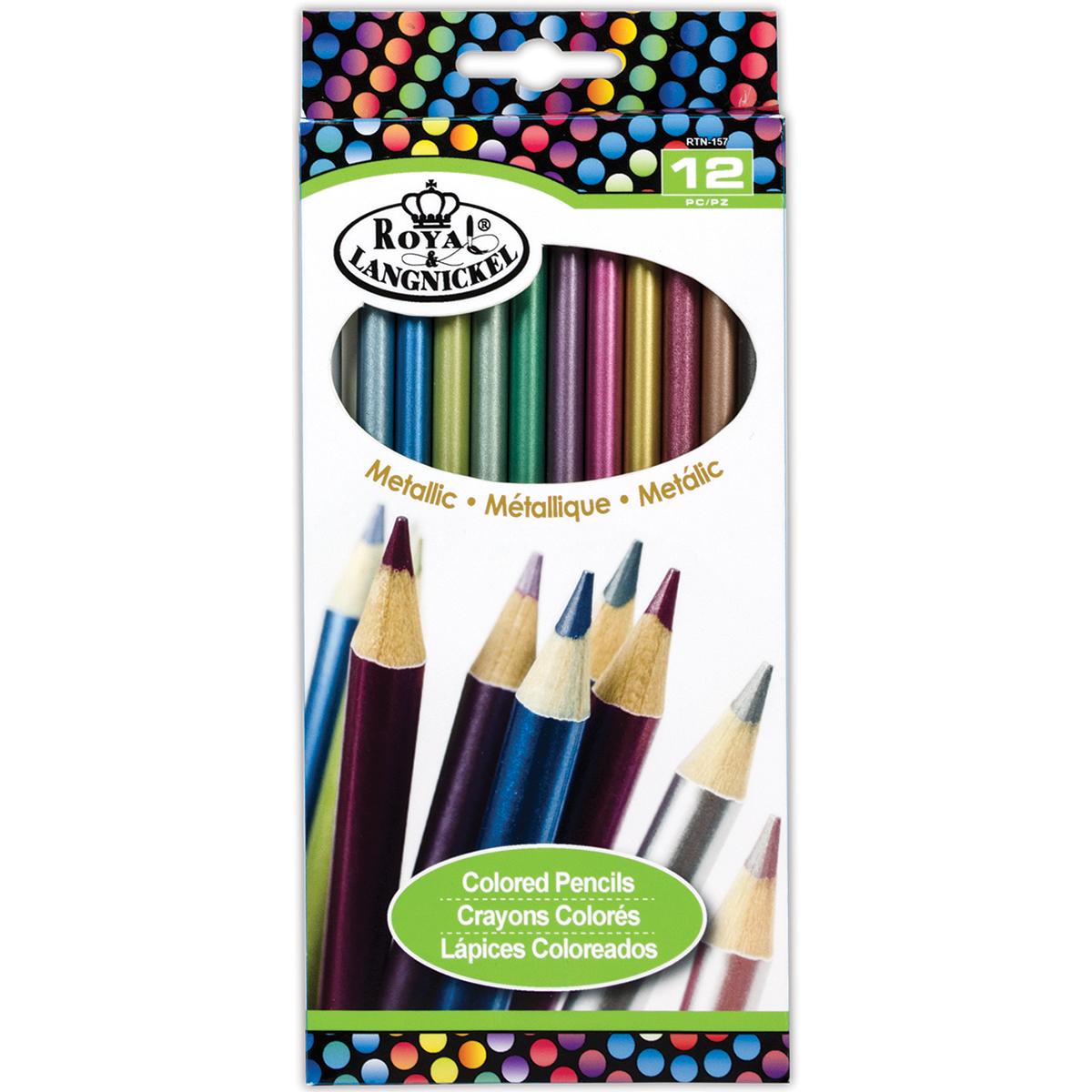 Colored Pencils 12/Pkg-Metallics