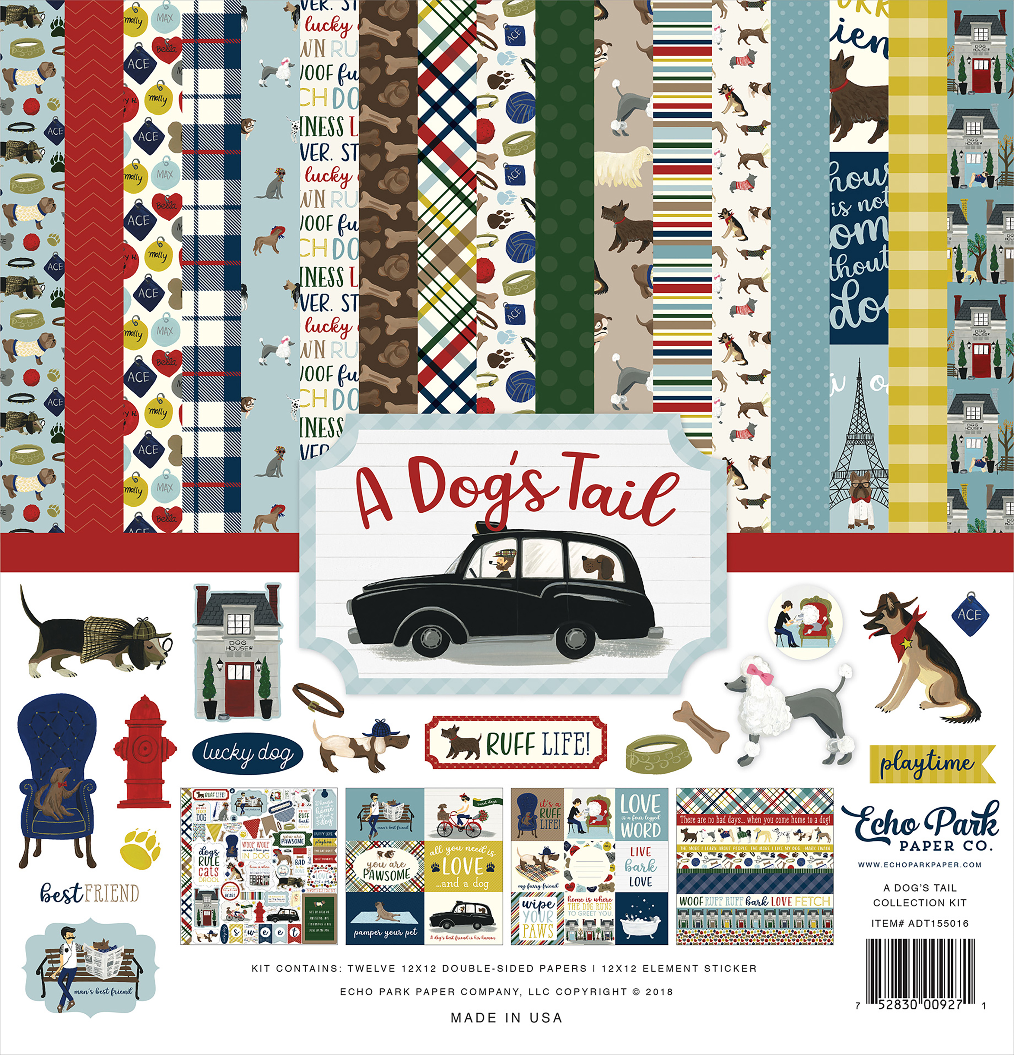 Echo Park Collection Kit 12X12-A Dog's Tail