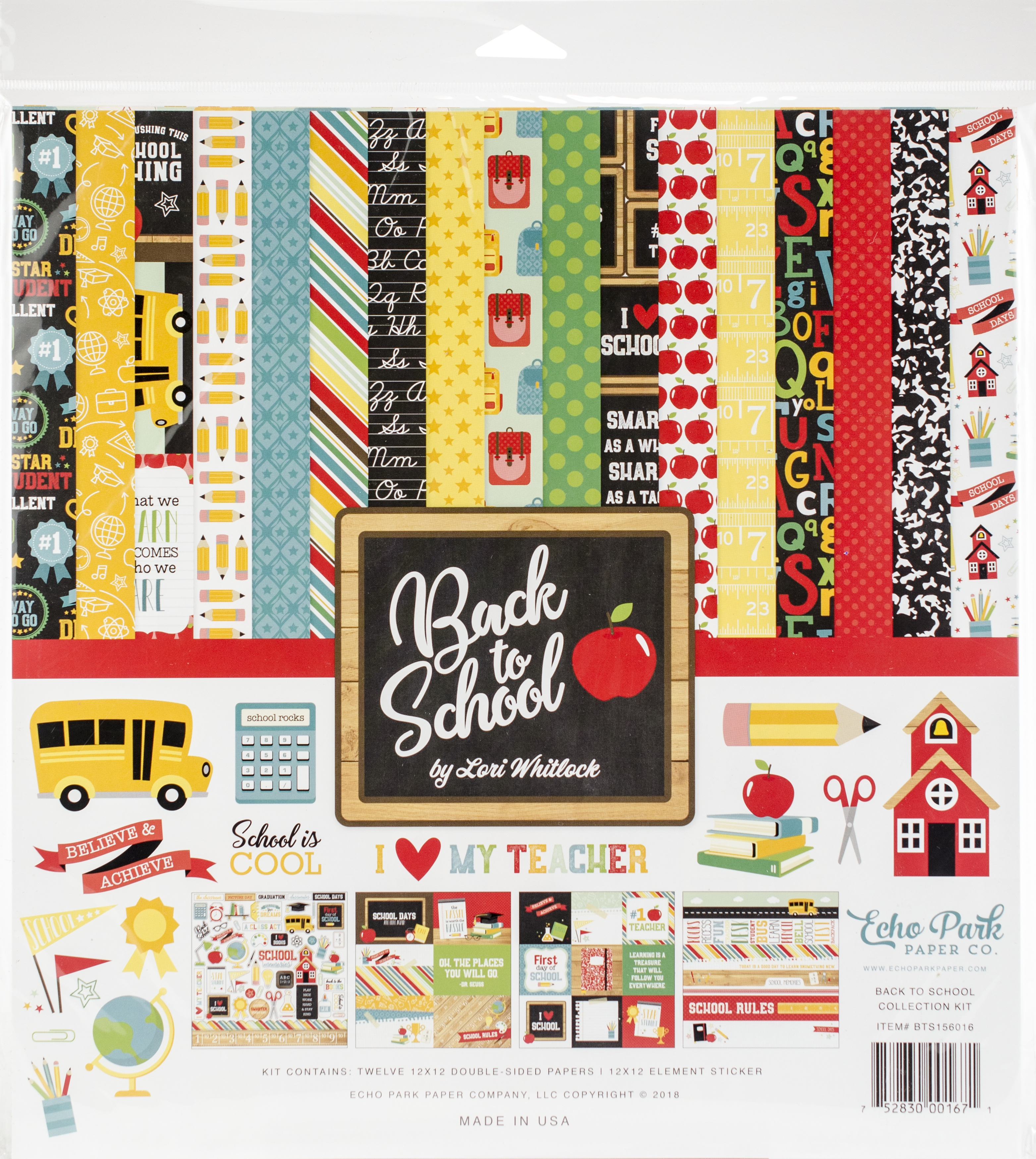 Back to School - Echo Park Collection Kit 12X12
