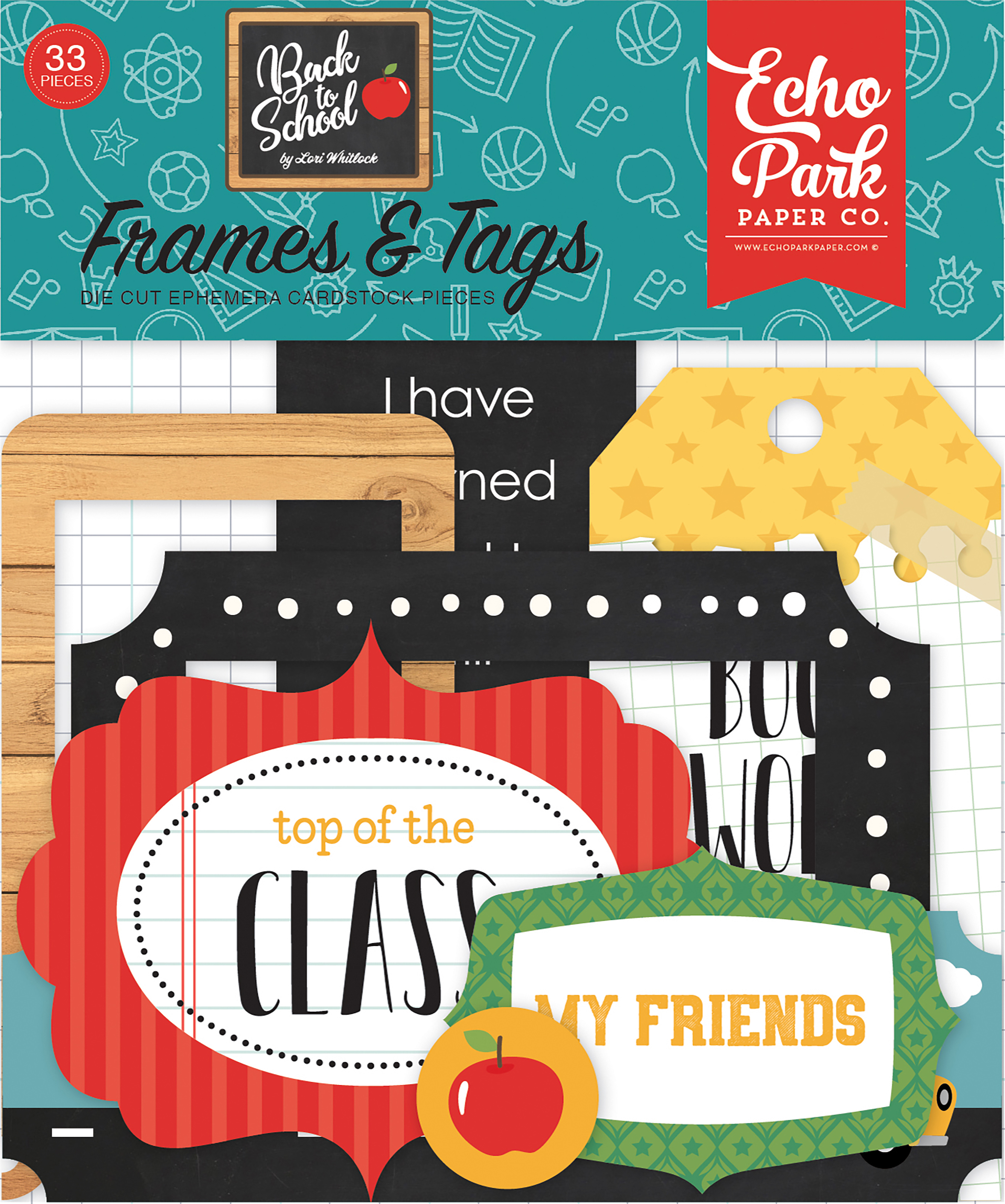 Back to School Frames & Tags Echo Park Cardstock Ephemera 33/Pkg-Frames & Tags