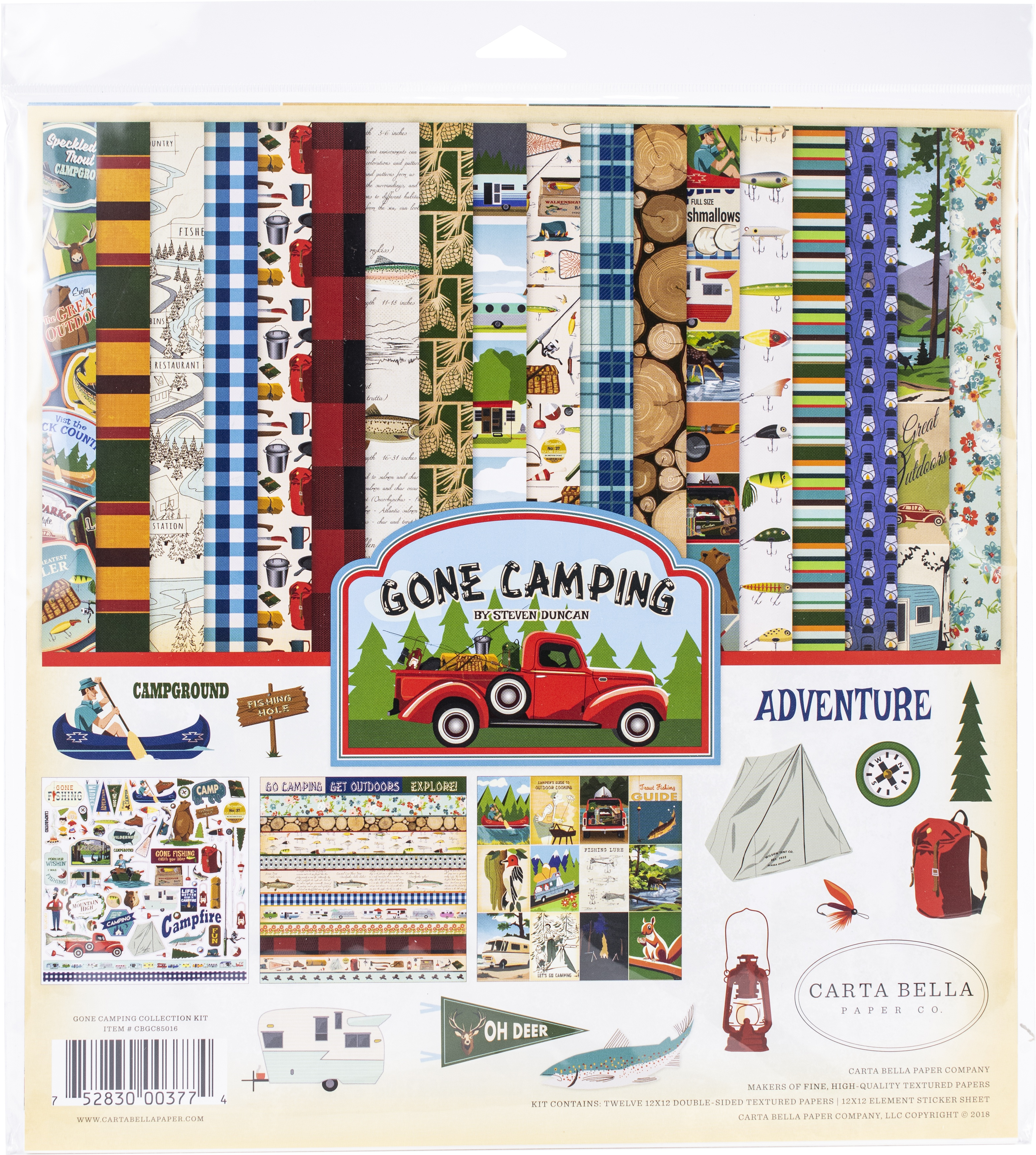 Gone Camping Carta Bella Collection Kit 12X12