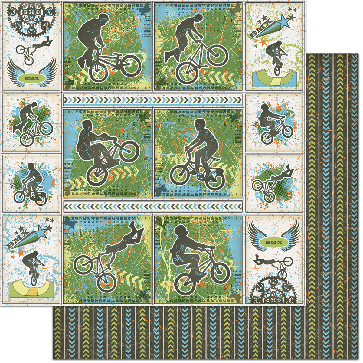 Teenagers Double-Sided Cardstock 12X12-BMX Bikes