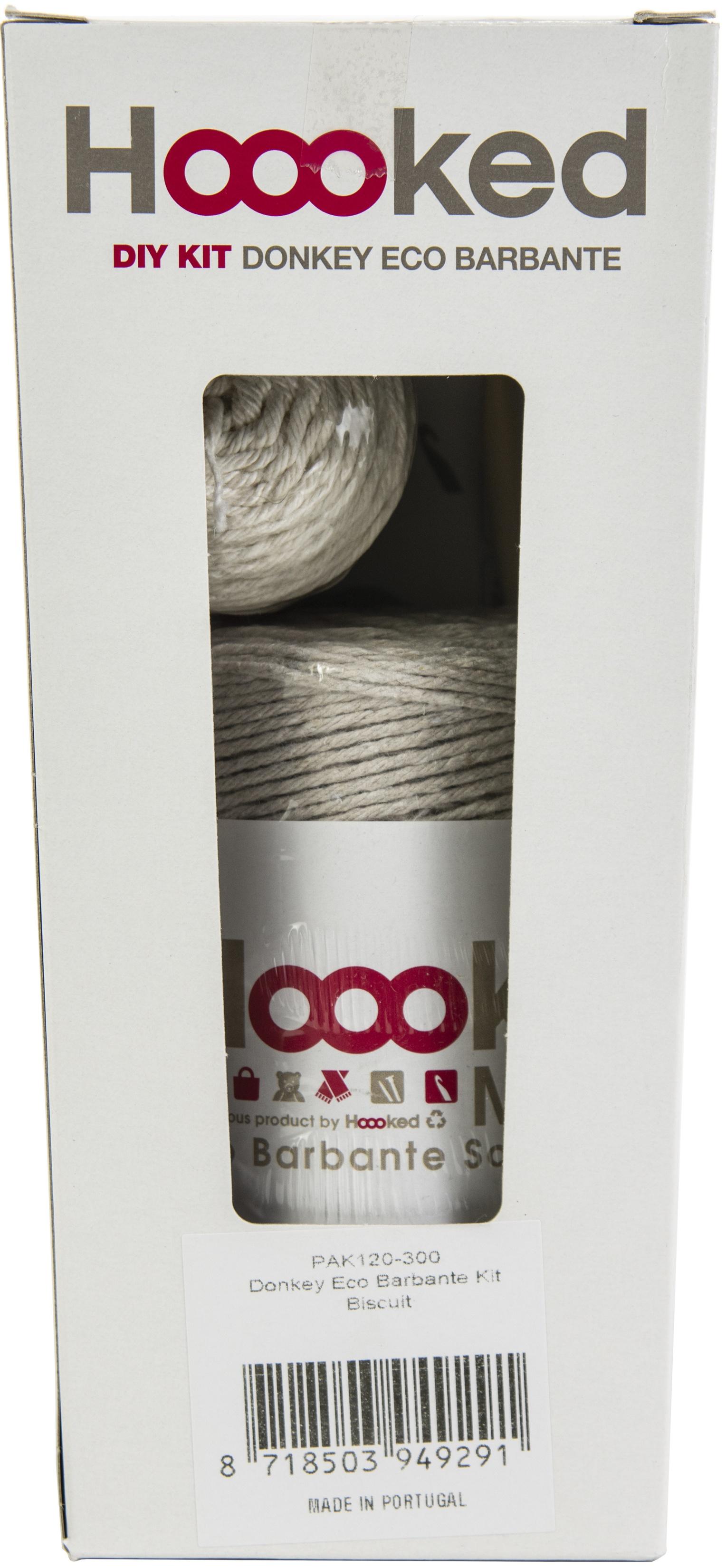 Hoooked Donkey Joe Yarn Kit W/Eco Barbante Yarn-Biscuit