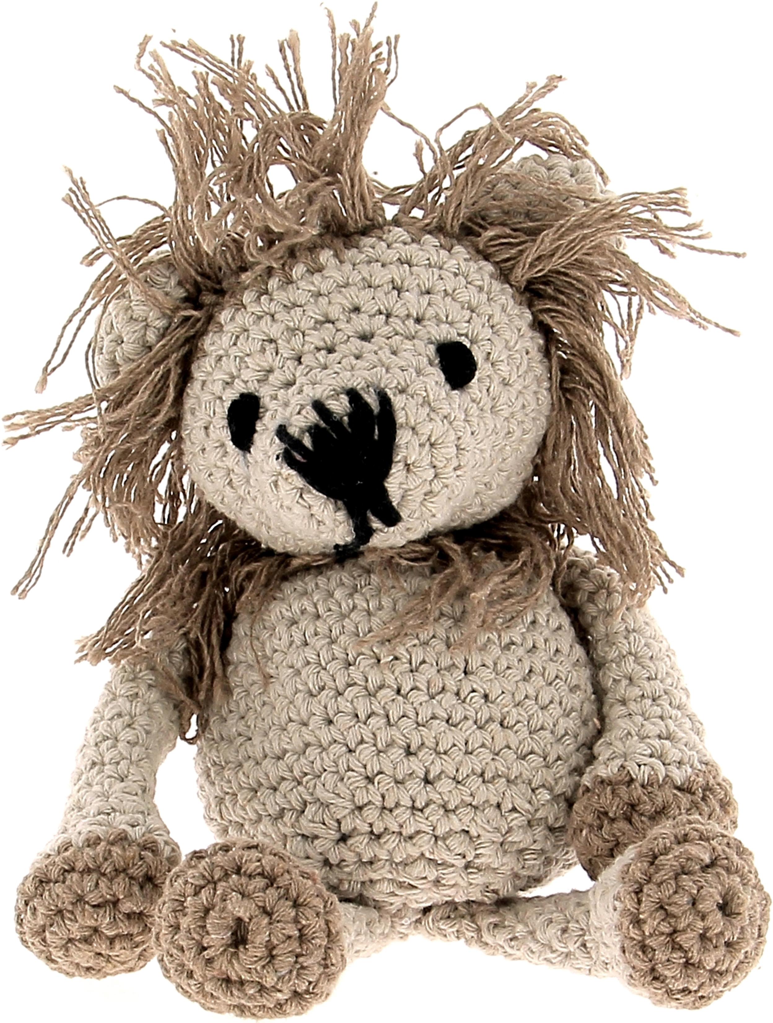 Hoooked Lion Leroy Yarn Kit W/Eco Barbante Yarn-Beige & Taupe