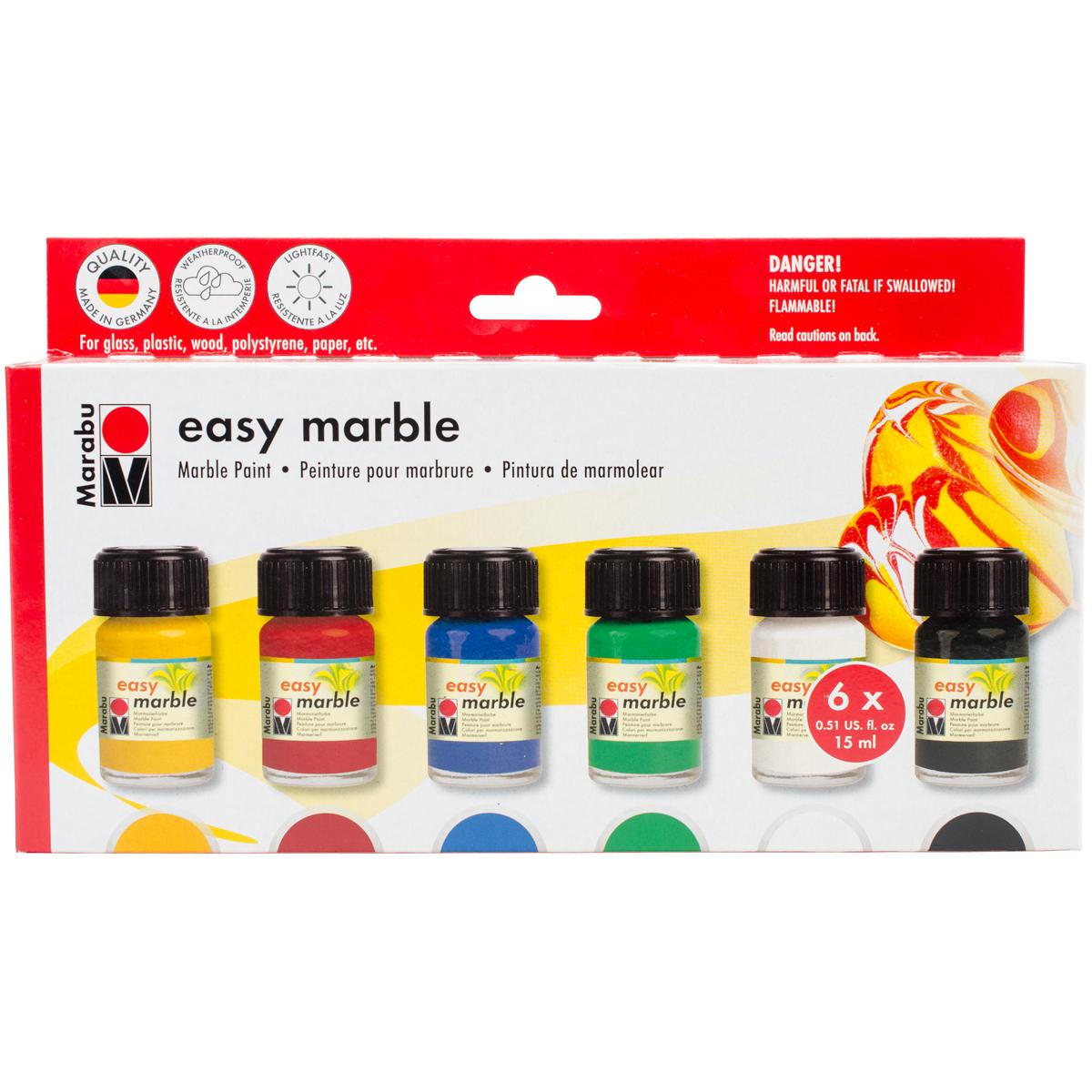 Marabu Creative Easy Marble Starter Set 6/Pkg-
