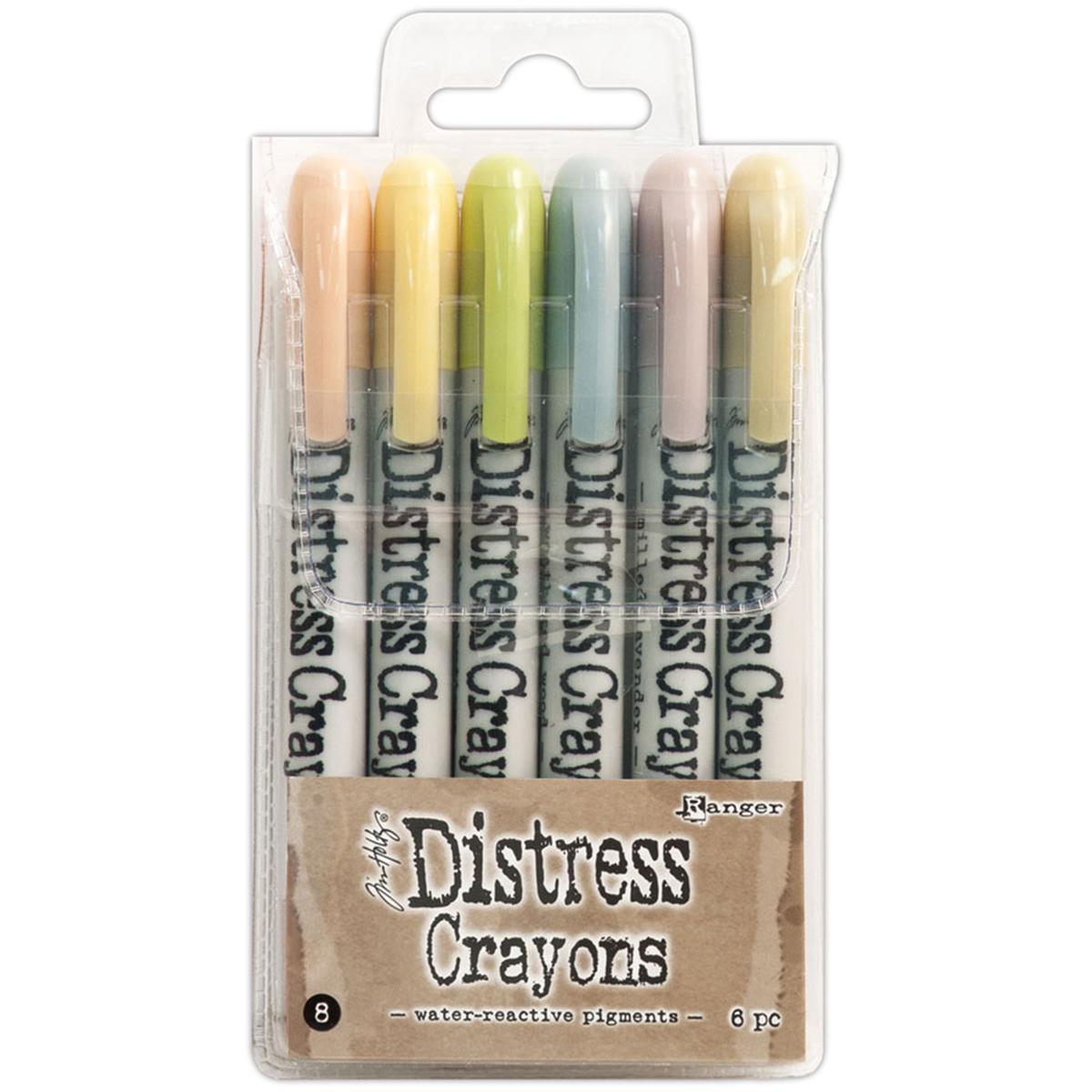 Distress cllrayons set 8
