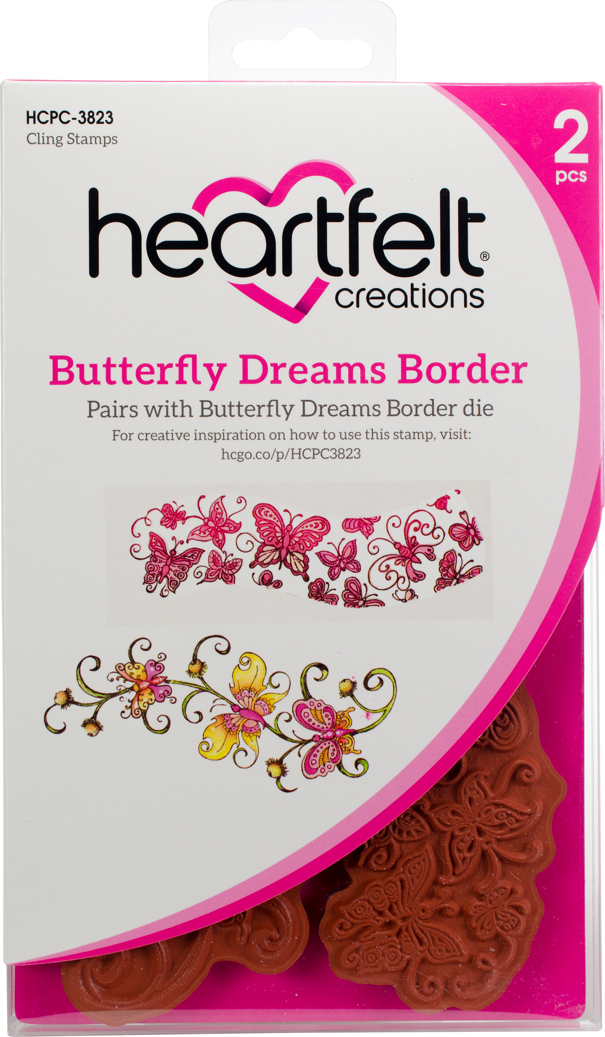 Butterfly Dreams Border Stamp