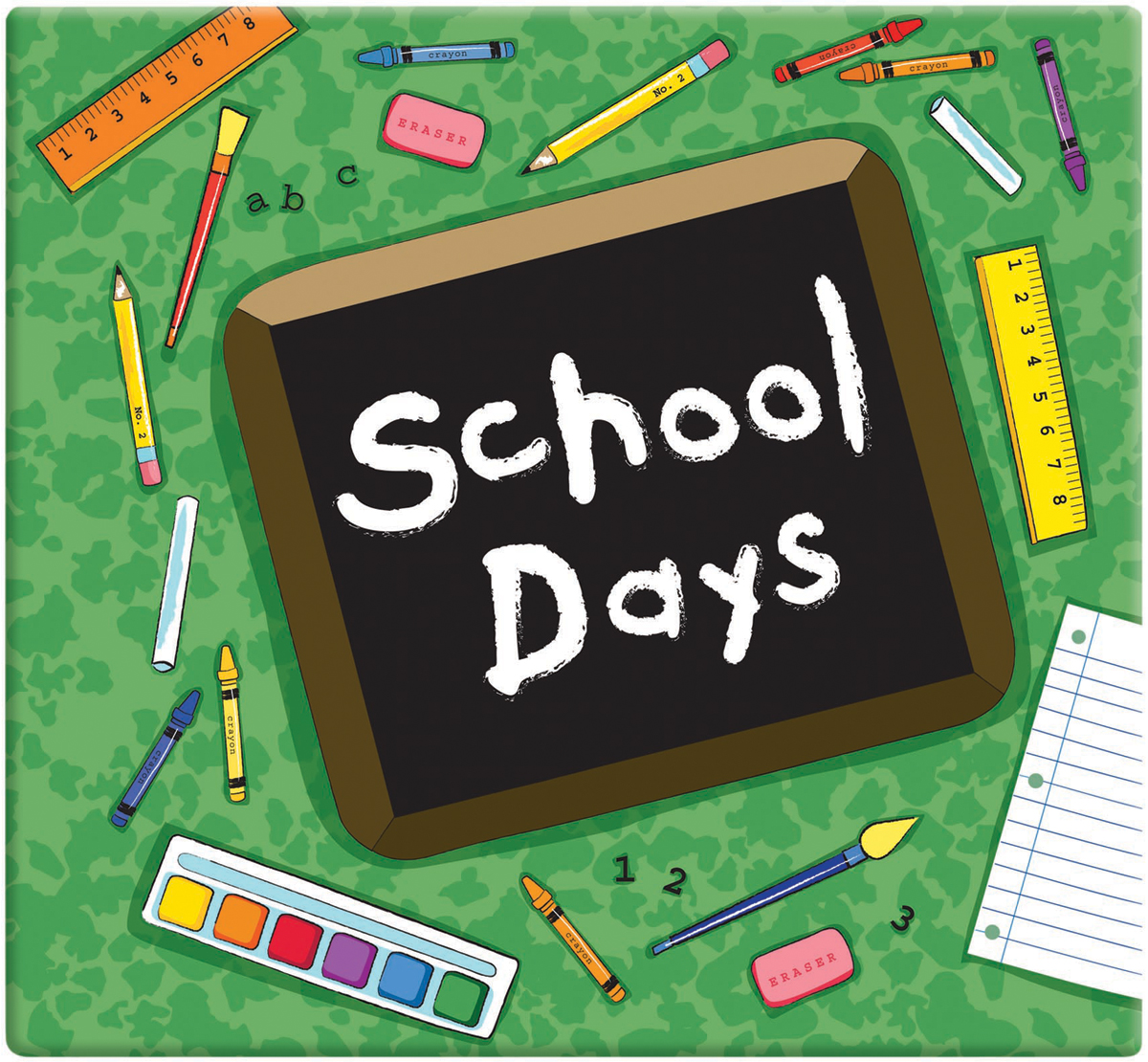 MBI GREEN -SCHOOL DAY ALBM12X12