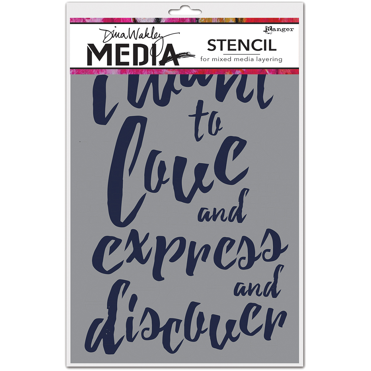Dina Wakley Media Stencils 9X6-I Want