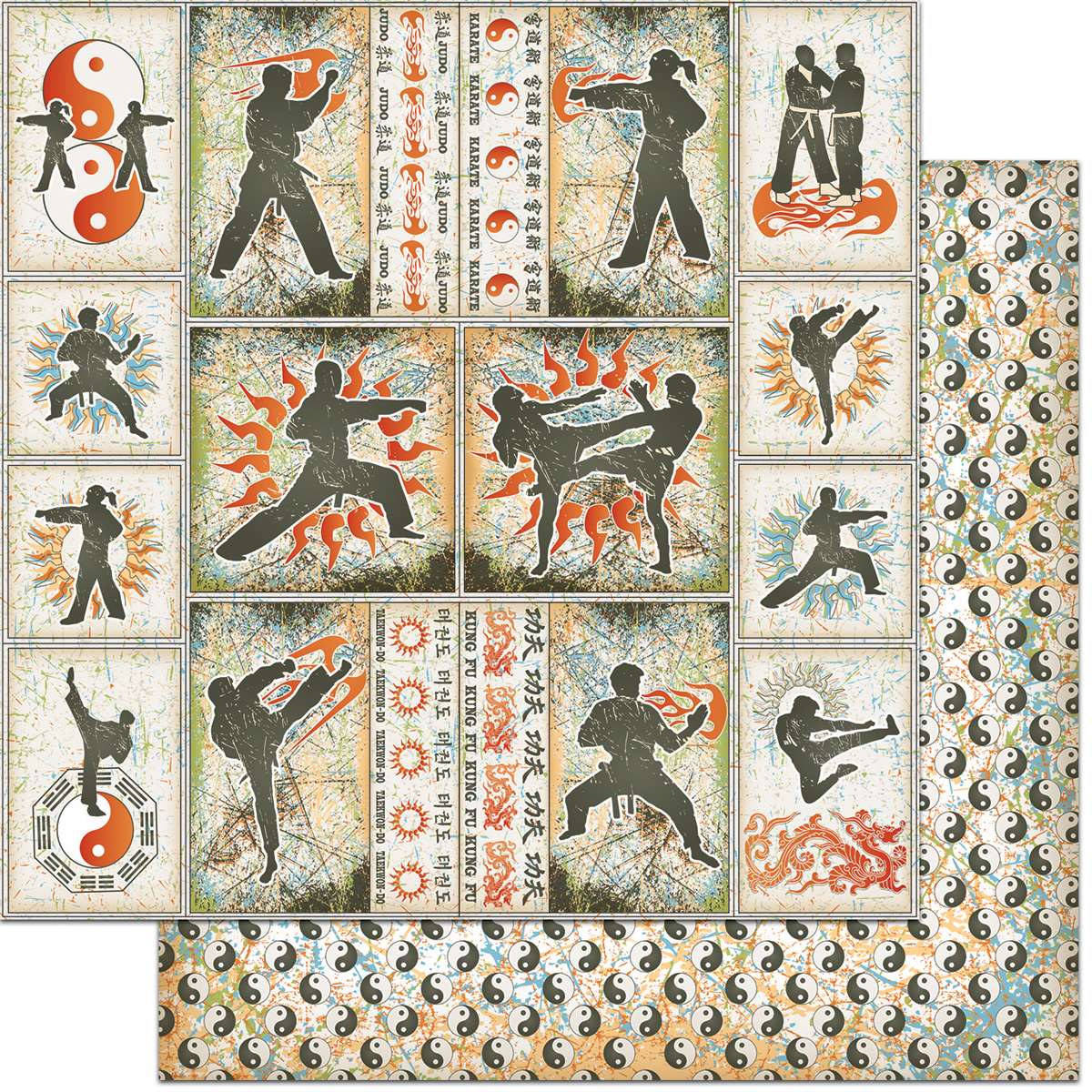 Teenagers Double-Sided Cardstock 12X12-Martial Arts