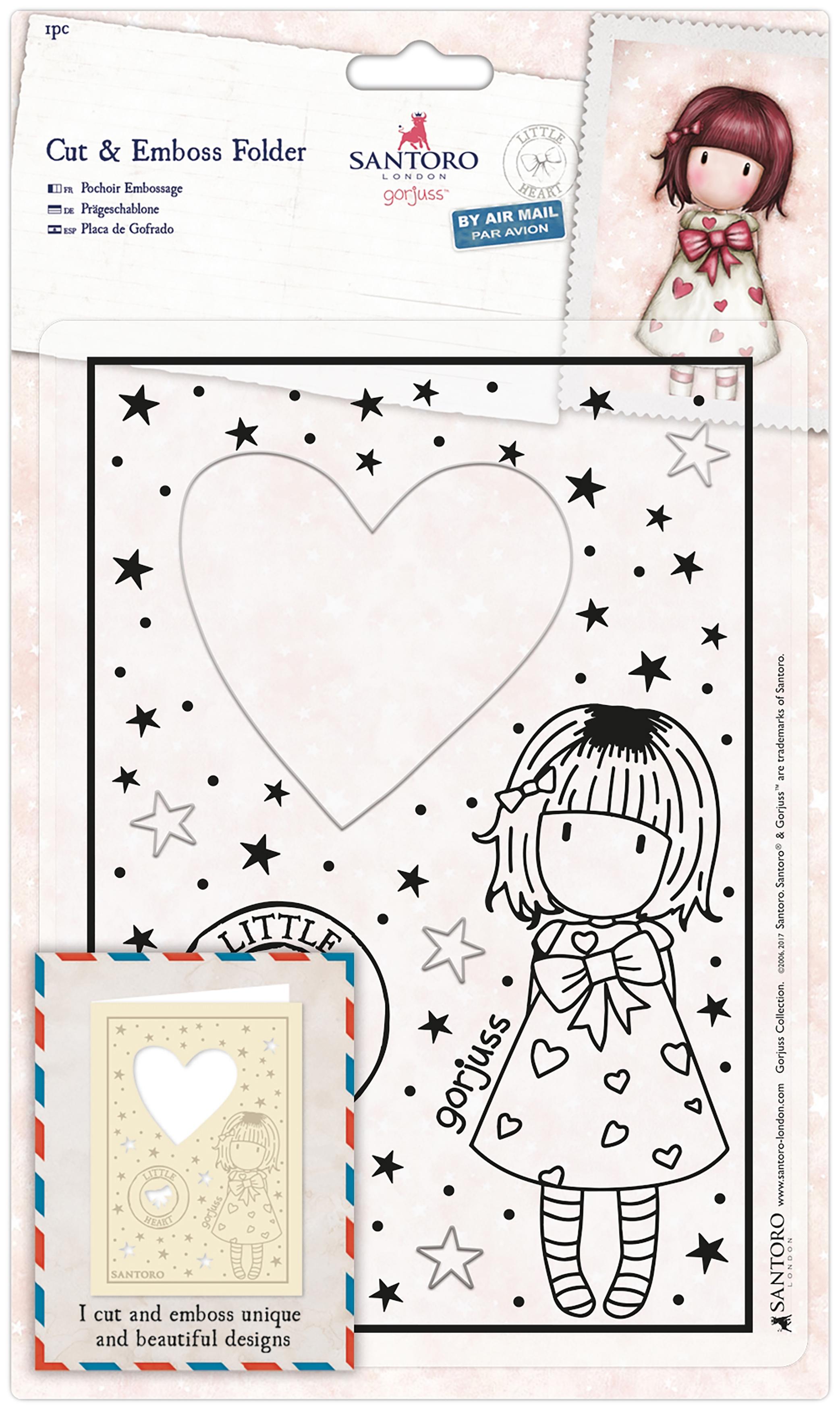 Santoro's Gorjuss Cut & Emboss Folder-Little Heart