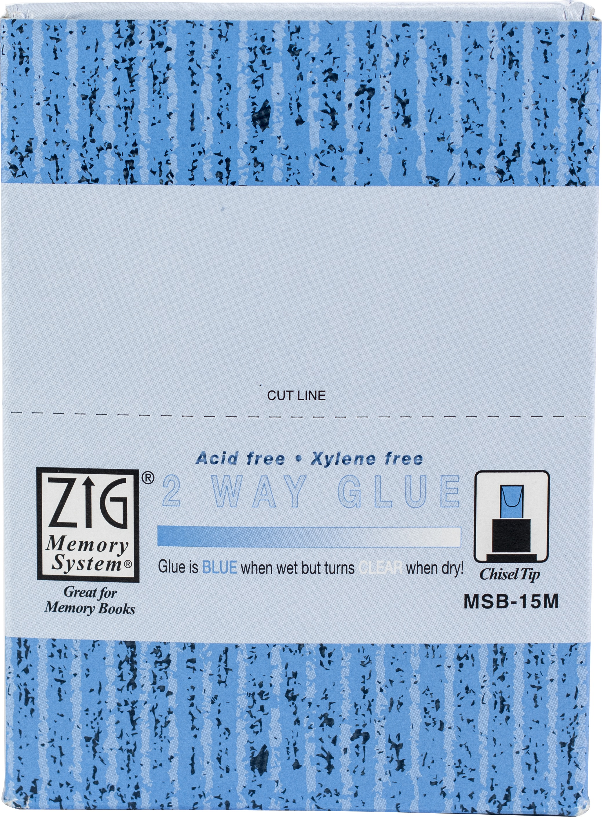 Zig - 2-way Glue Pen - Chisel Tip